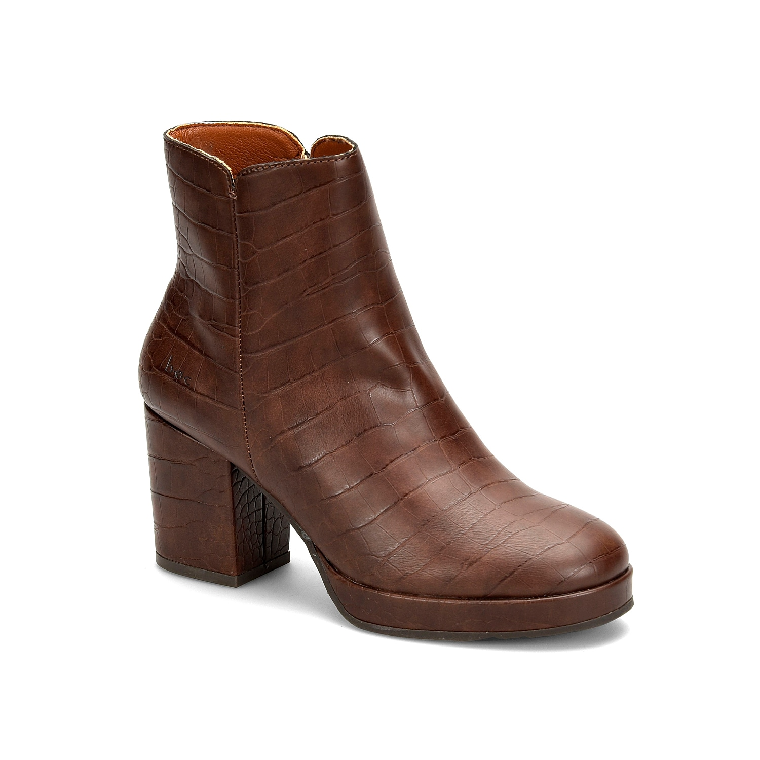 You\\\'ll fall in love with the sleek look and the vintage inspiration of the b.o.c.Lacey bootie. The clean profile comprises of easy-to-wear side zip closure and chunky platform and heel for elegant lift.
