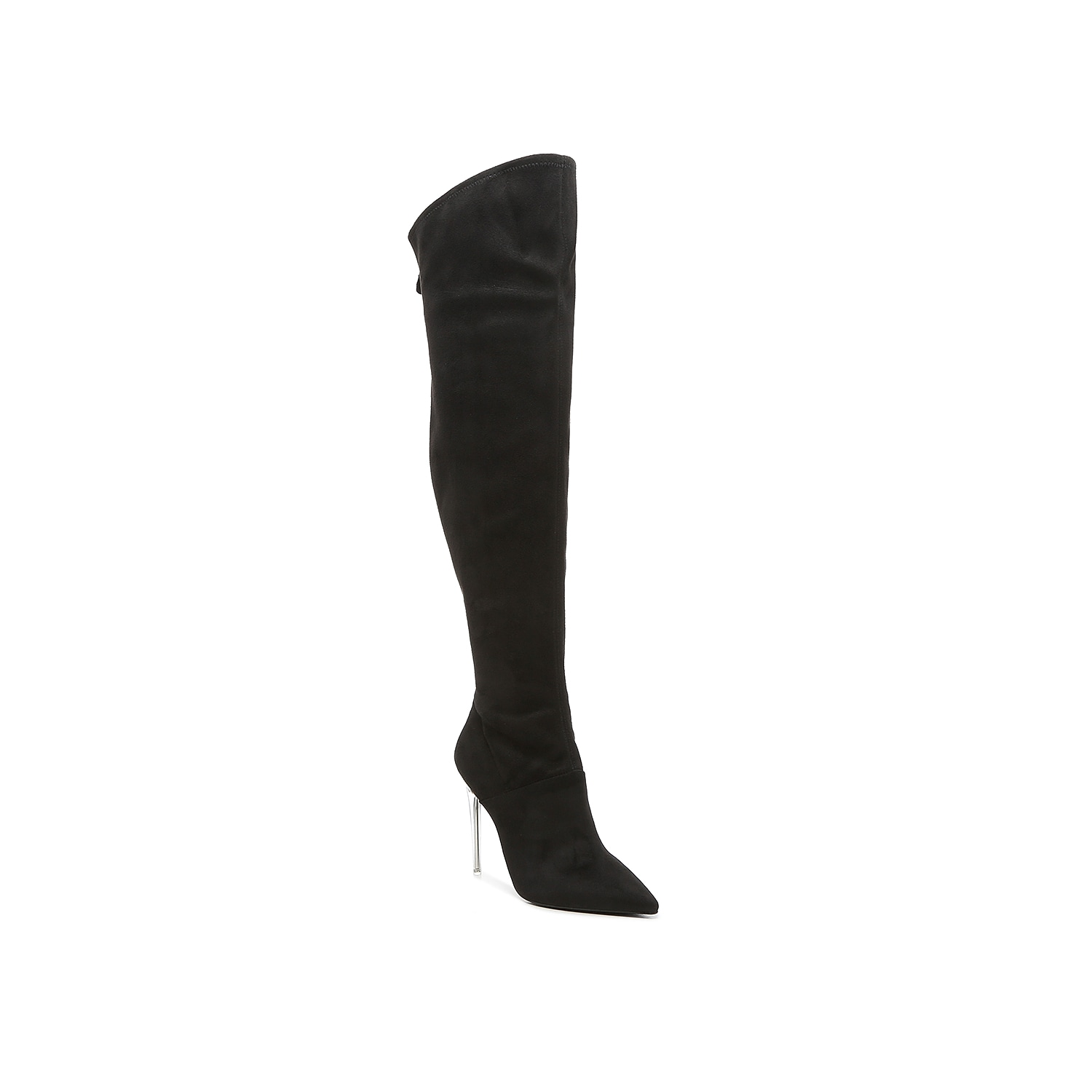 Stun in an OTK boot that never stops serving looks with this exclusive pair from JLO Jennifer Lopez. The Azzala makes power moves with a spiked stiletto heel, dramatic pointed toe, and skintight silhouette. A back zipper makes this an effortless pair to pull off. Click here for Boot Measuring Guide.