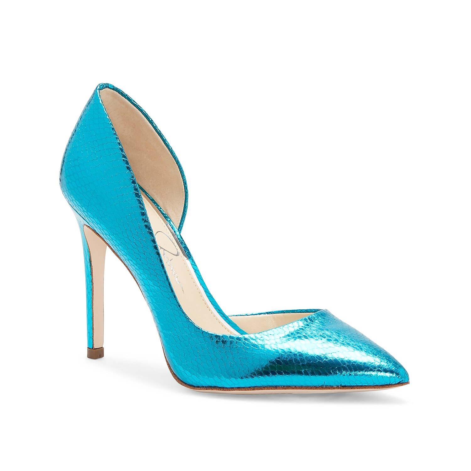 Embrace your wild style with the Pheona pump from Jessica Simpson. Featuring d\\\'Orsay styling with a towering stiletto, this pair will have heads turning.