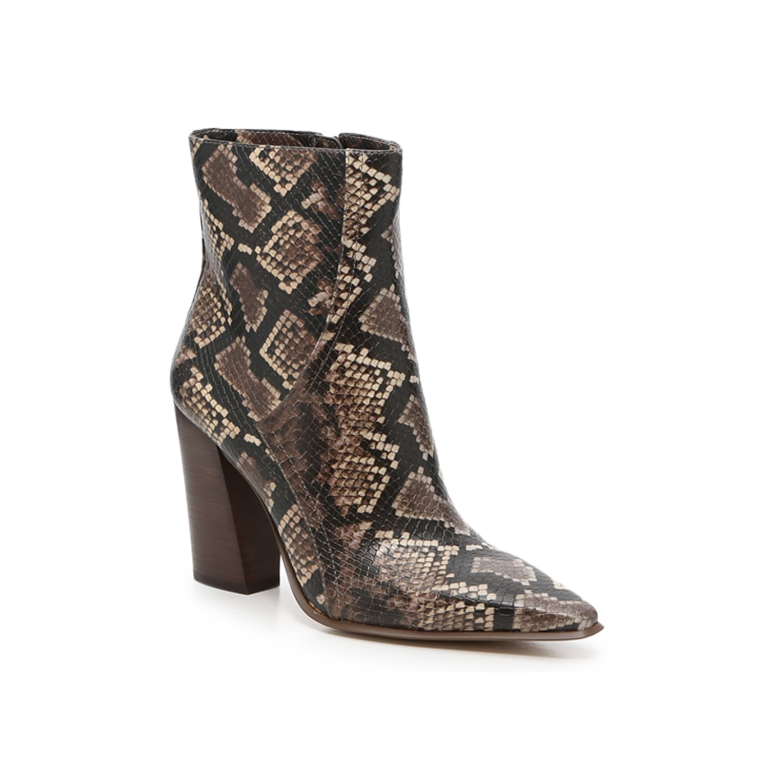Take your ankle bootie collection over the top with this exclusive pair from JLO Jennifer Lopez. The Dorindah makes a statement with an angled outline, elongated toe, and slanted heel that defies fashion limits. Click here for Boot Measuring Guide.