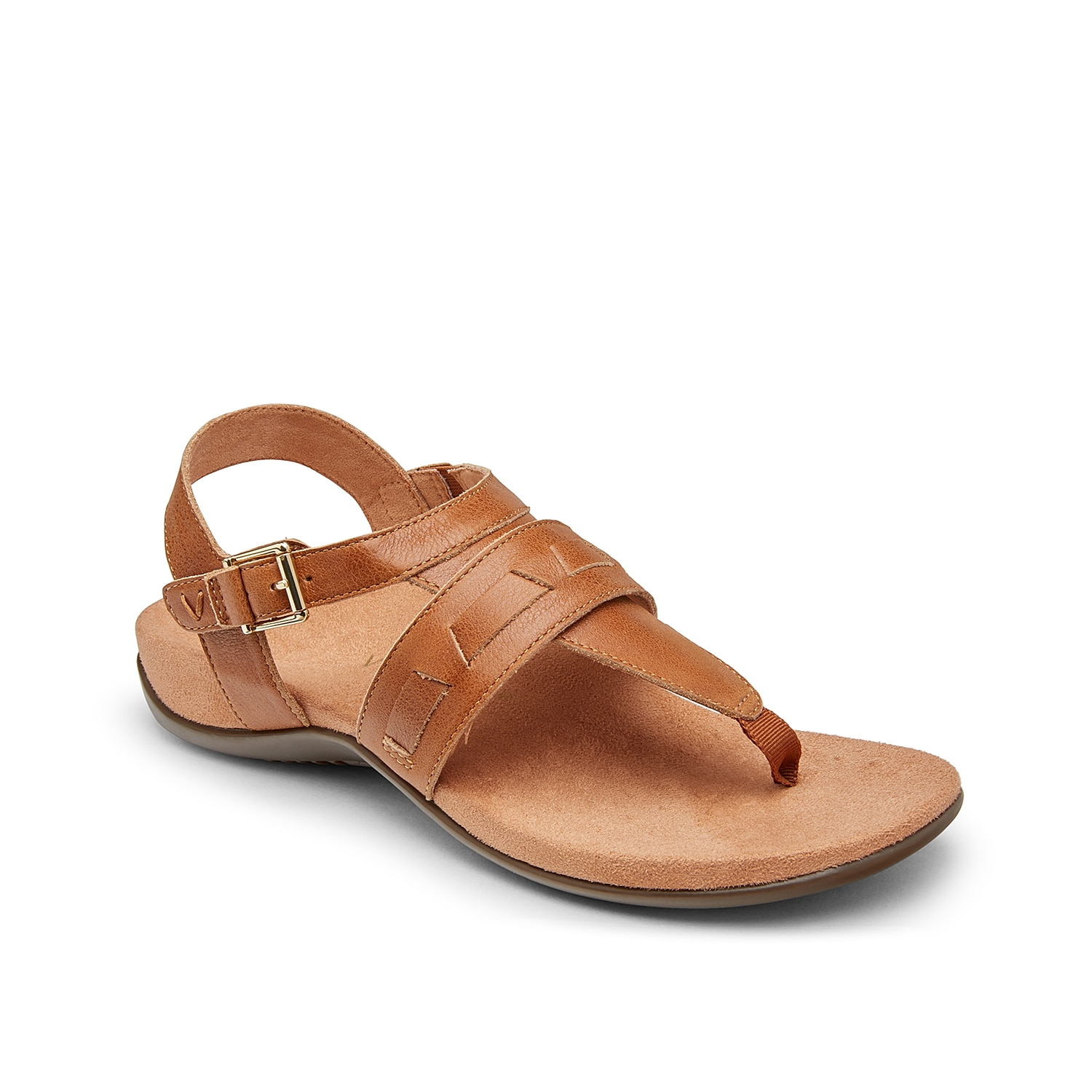Classic summer style gets a comfortable update with the Lupe sandal from Vionic. This leather pair features a contoured footbed and supportive t-strap to keep you feeling your best all day.