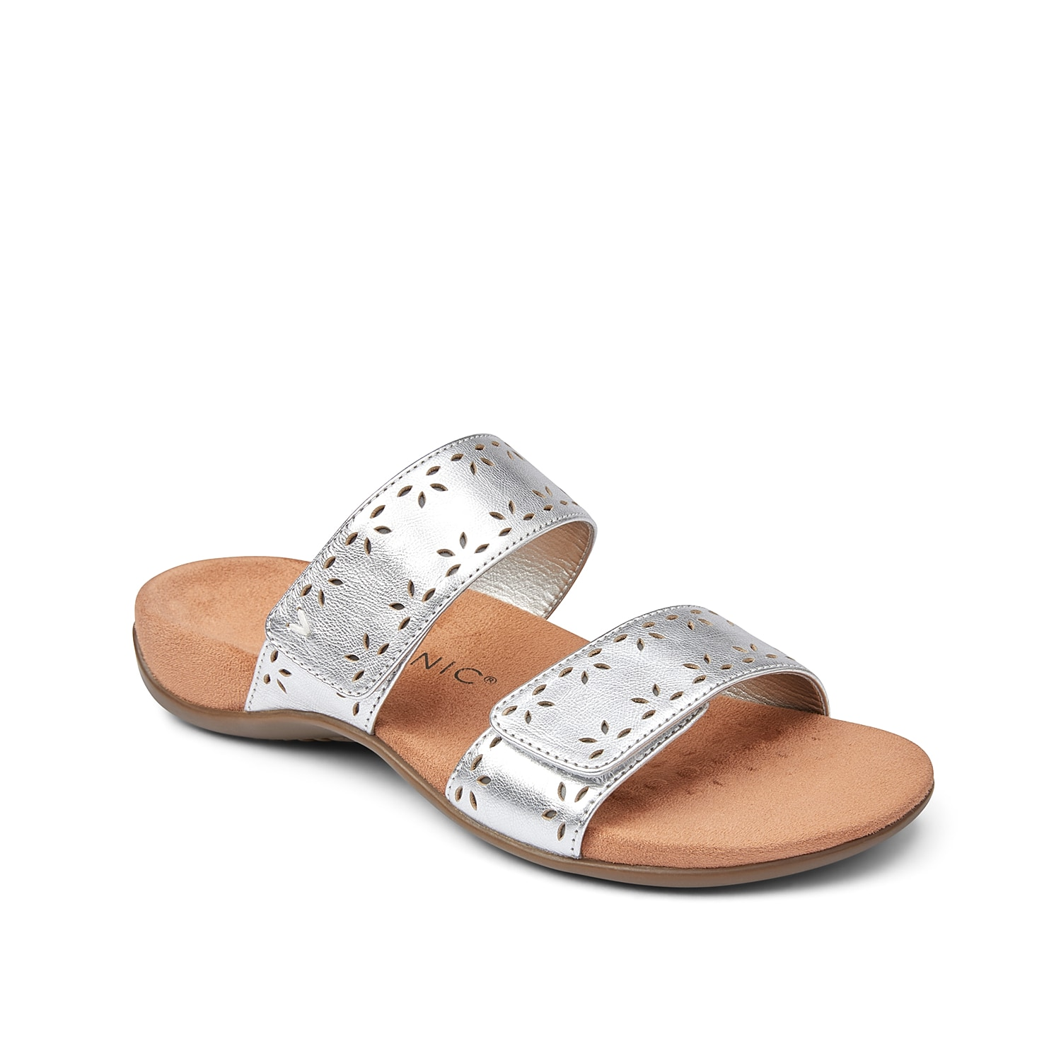 Stay stylish while feeling your best in the Randi II sandal from Vionic. These two-band slides feature adjustable straps for a custom fit and the contoured footbed promotes lasting comfort.