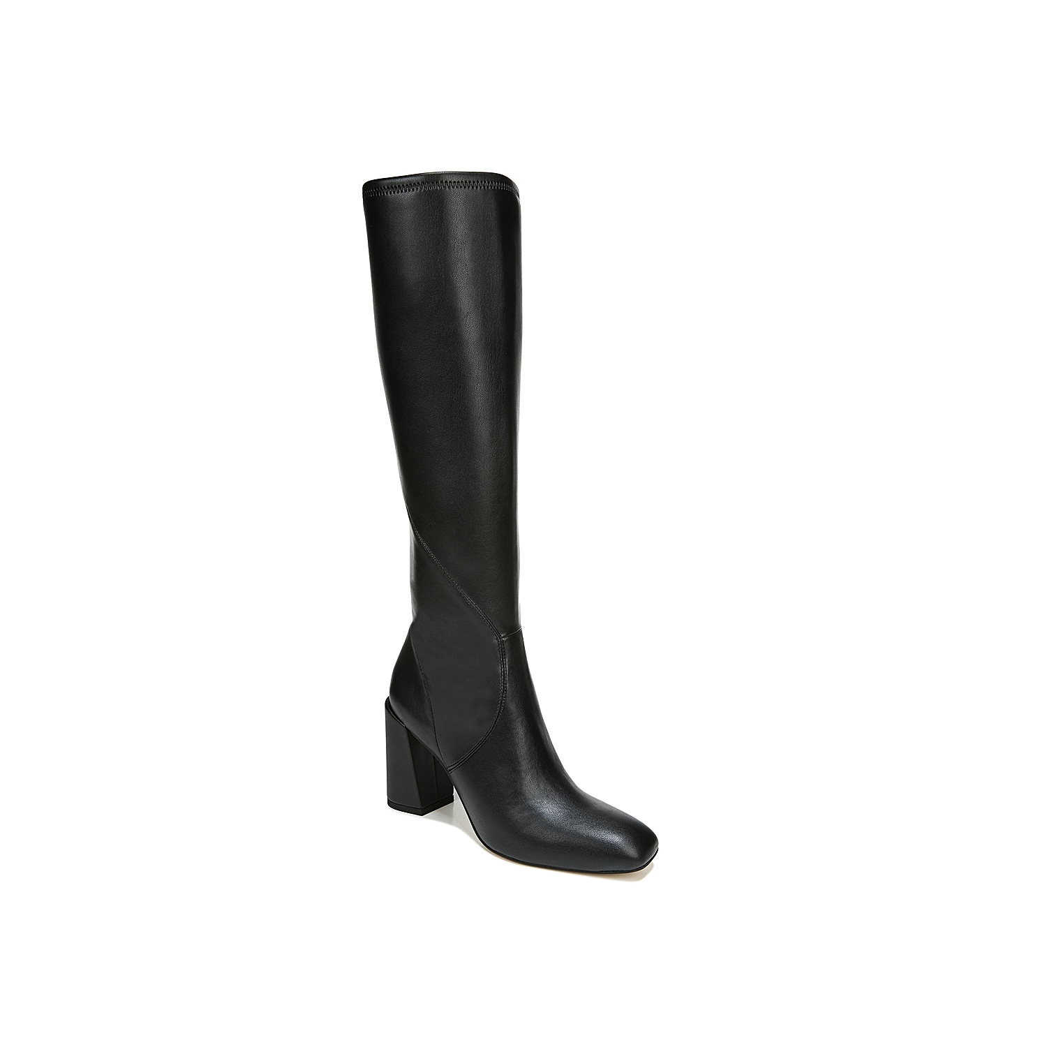 A streamlined silhouette with notes of modern styling define the Gardenia architectural tall boot from Franco Sarto. Built-in stretch at the topline provides a comfortable, custom fit. The structured square toe and slanted block heel create modern angles.Click here for Boot Measuring Guide.