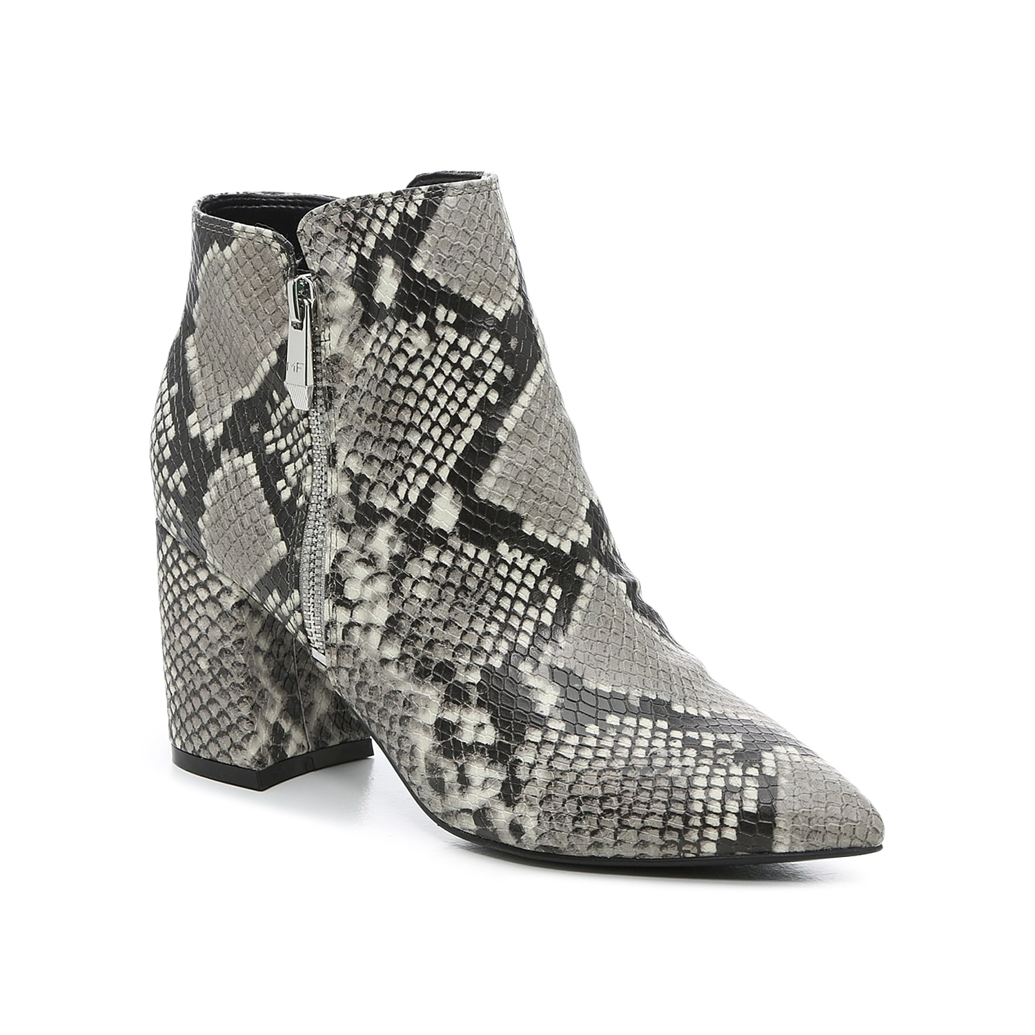 The Raila bootie from Marc Fisher infuses elegance and poise into your ankle boot collection. These boots are fashioned with all-over embossing, dramatic pointed toe, and unique heel that curves inward. Click here for Boot Measuring Guide.