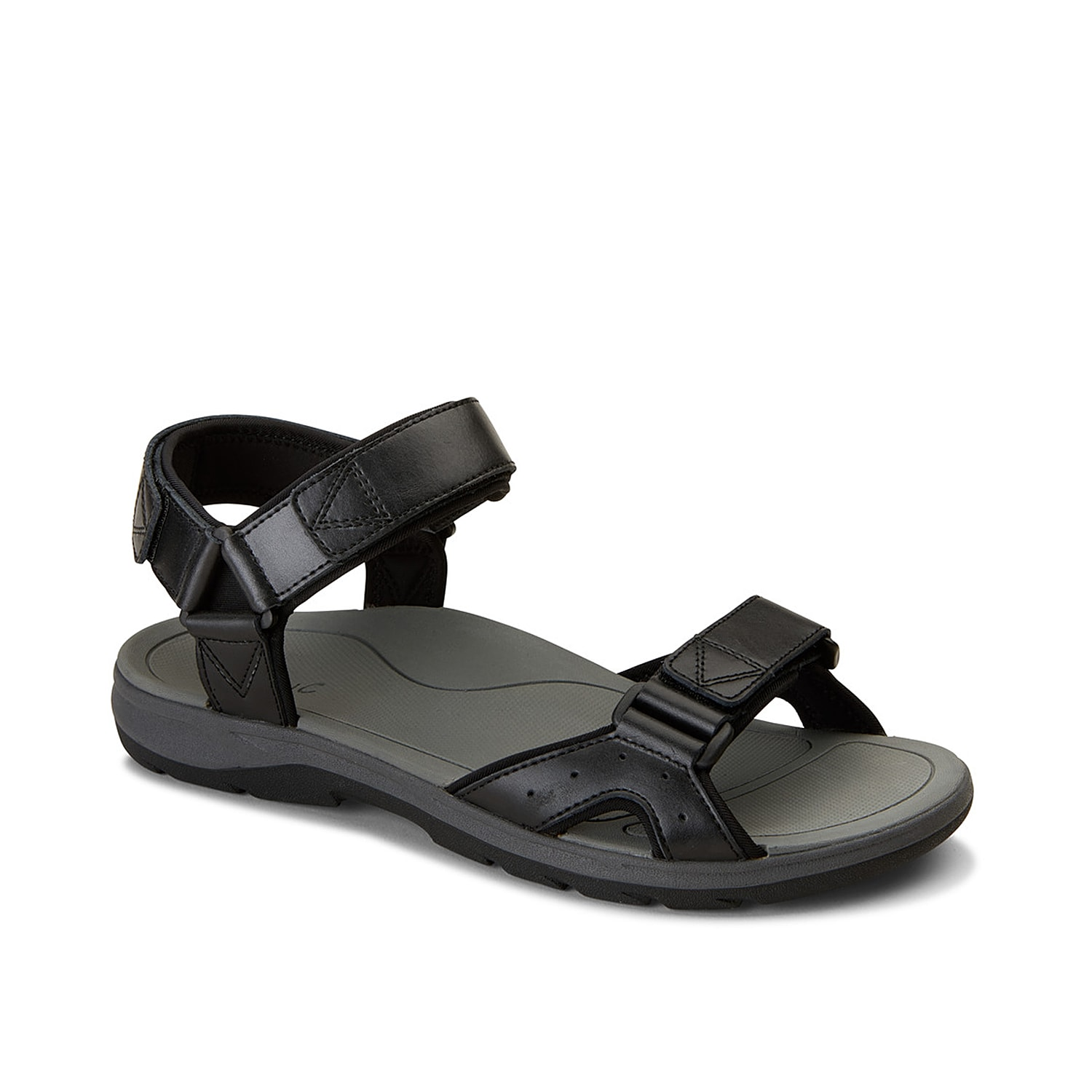 Get ready for outdoor adventures with the Leo river sandal from Vionic. Along with a classic design, this sandal features contoured EVA footbed with podiatrist-designed orthotic technology and durable rubber traction sole.