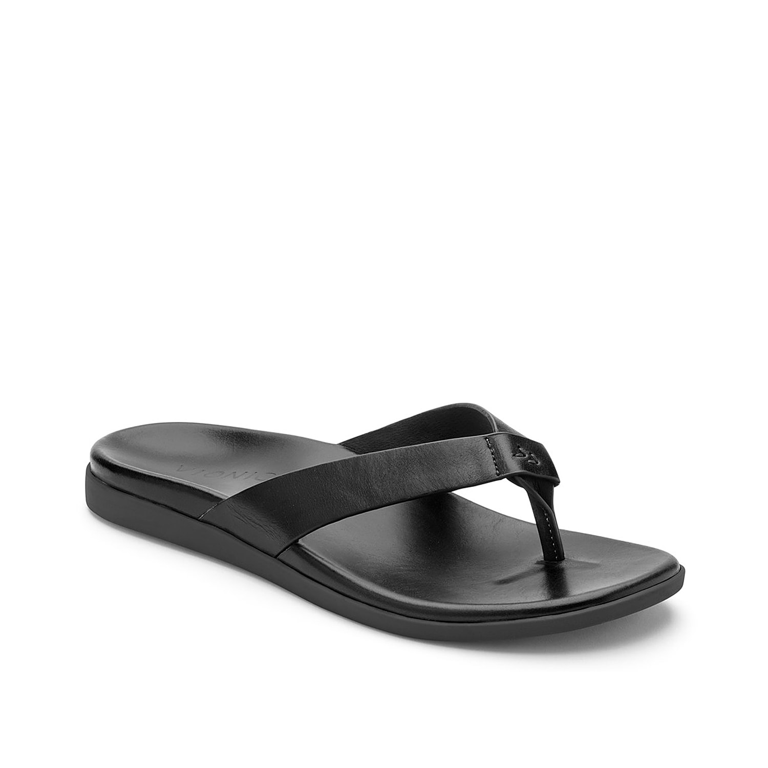 The Elijah thong sandal by Vionic gives your weekend outfit a luxurious edge. It showcases leather thong straps, leather footbed and rubber outsole.