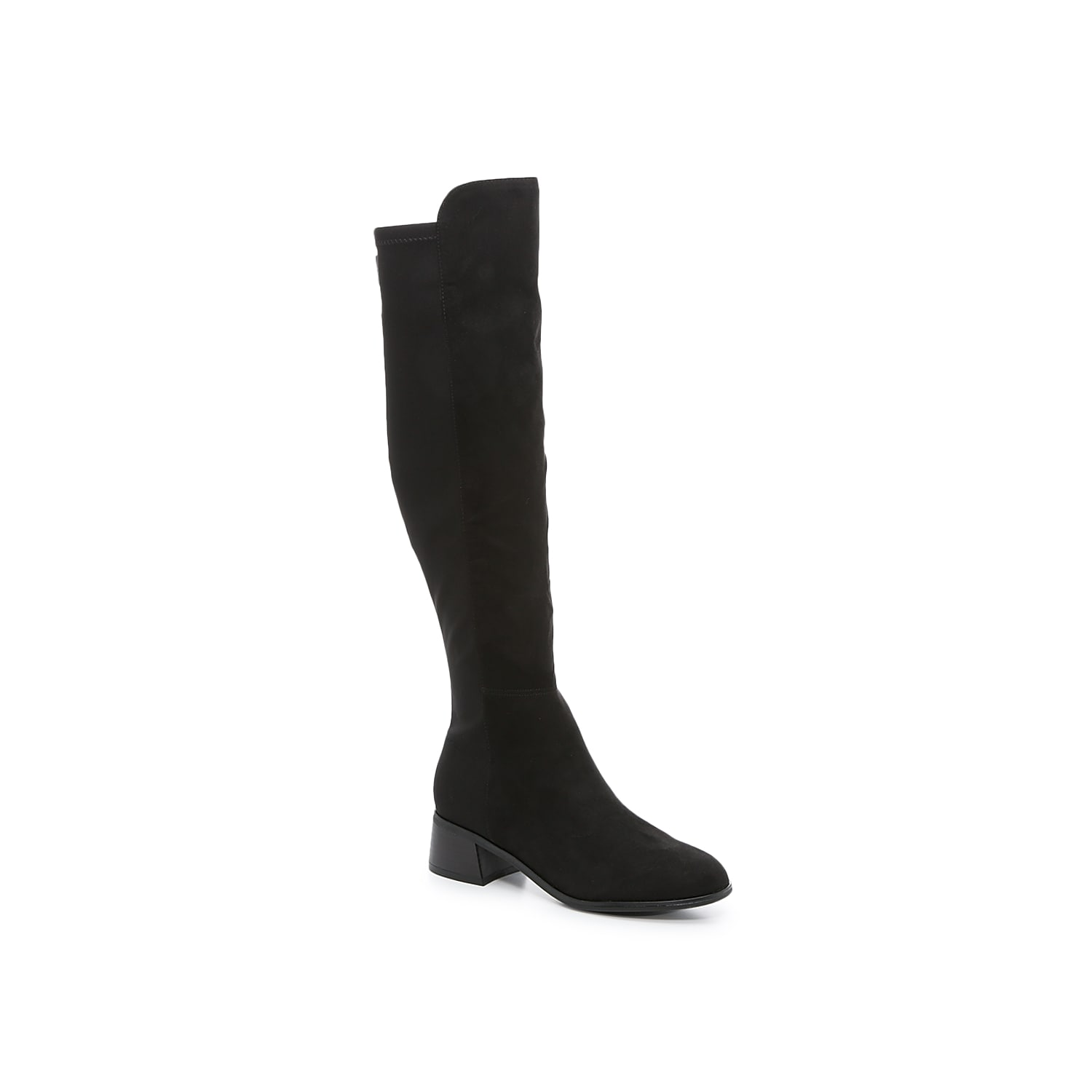 Step into the Hayla knee-high boot from Unisa for an instant style transformation that\\\'s ready to wear with leggings or dresses. The mixed material upper features a stretchy elastic panel that provides a just-right fit. Click here for Boot Measuring Guide.