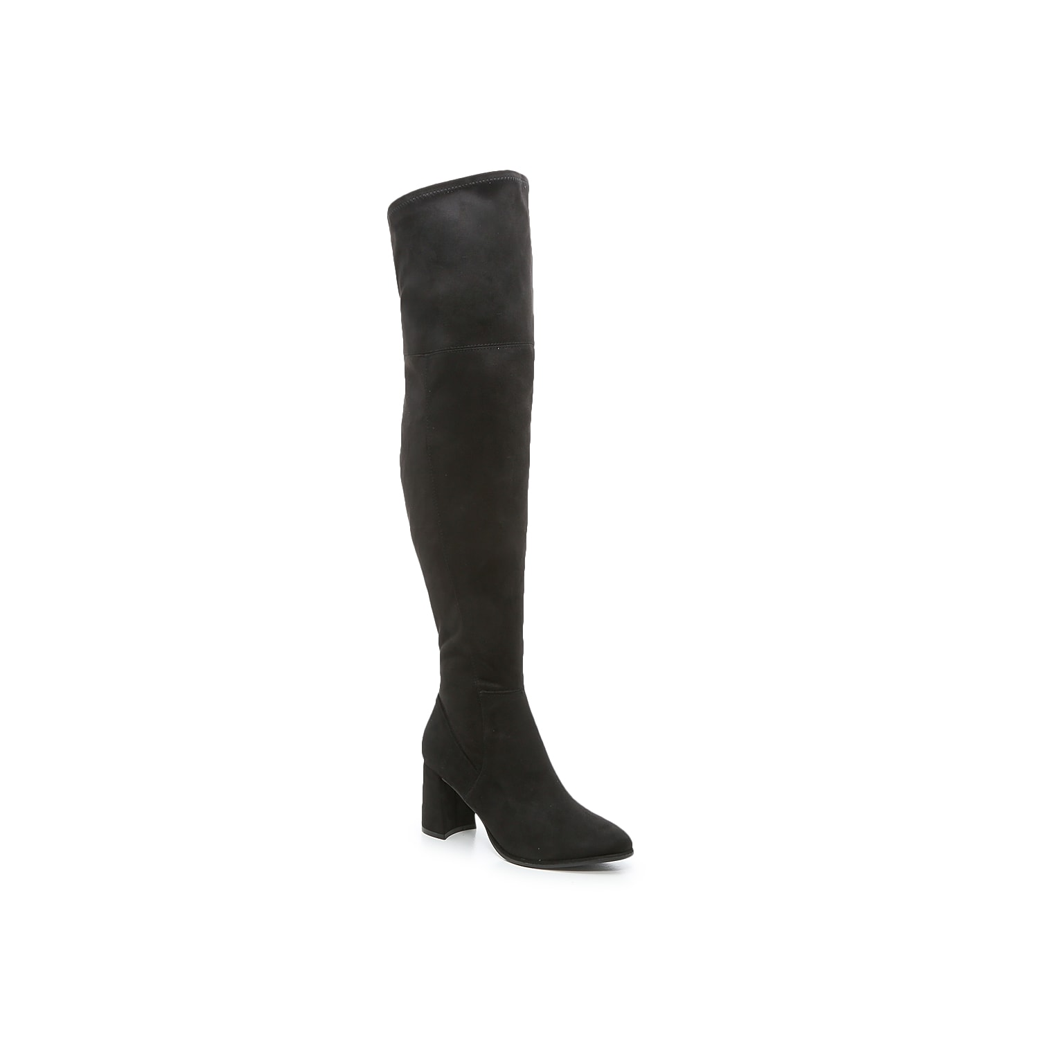 The Darton OTK boot from Marc Fisher has a sultry, skintight silhouette that you can pair with any mini skirt or cold weather look! A hint of stretch in topline provides pull-on comfort and the U-cutout back widens for a comfortable yet fitted appearance on the upper leg. Click here for Boot Measuring Guide.