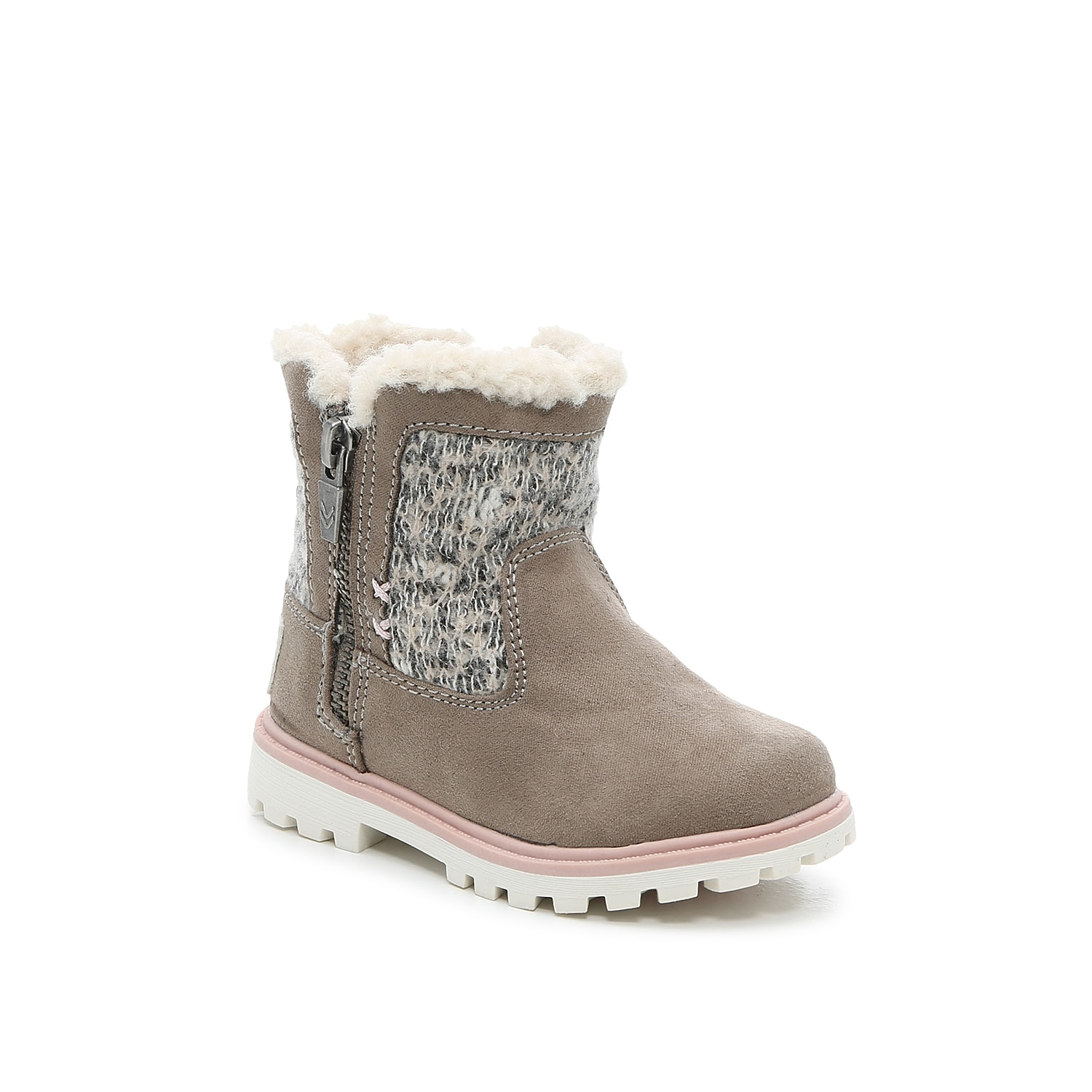Your little one will love the cold weather season when dressing up in the Kendal boot from Dr. Scholl\\\'s. Sweater-knitted panels and a cuff of faux fur give this pair all the cozy vibes, while a durable outsole provides traction. Not sure which size to order? Click here to check out our Kids' Measuring Guide! For more helpful tips and sizing FAQs, click here.
