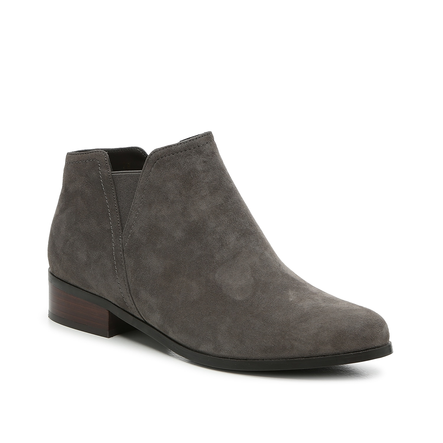 The Ravit ankle boot from VANELi is a low-profile pair that\\\'s styled with V-shaped cutouts and a hi-low topline. A modest, low heel provides a simple lift. Click here for Boot Measuring Guide.