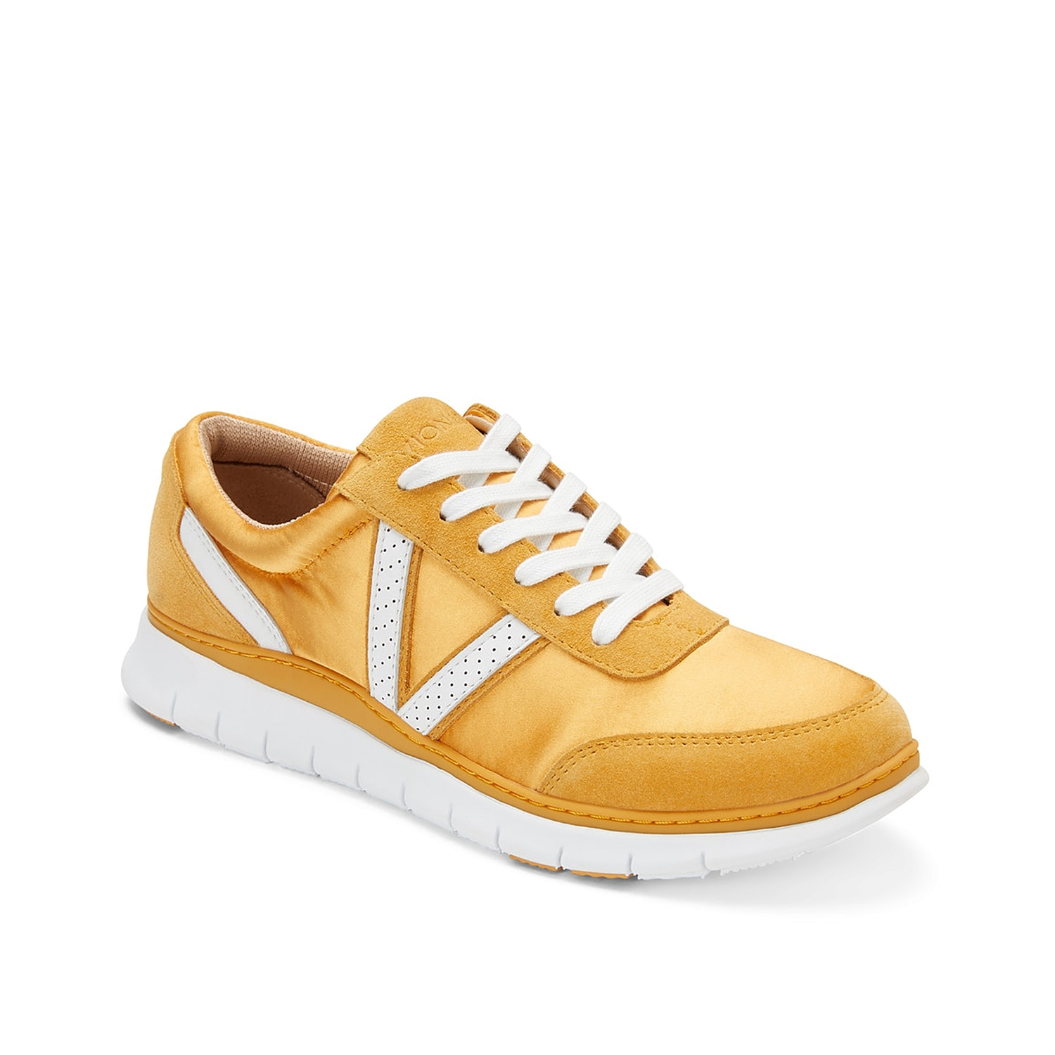 Revamp your sporty style with this Nana sneaker from Vionic. Soft yet sturdy, this low-top sneaker is approved by Apma and provides all cushioned comfort needed to ease your soles.