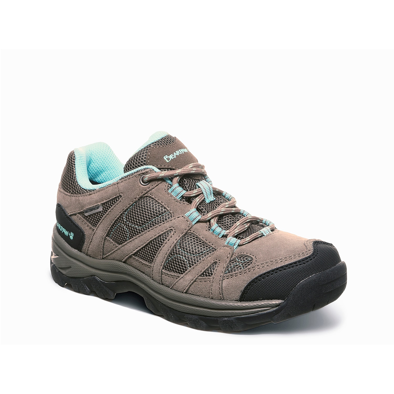 Supportive comfort starts with the Olympus hiking shoe from Bearpaw. An EVA midsole provides shock-absorption while the traction sole ensures stability.