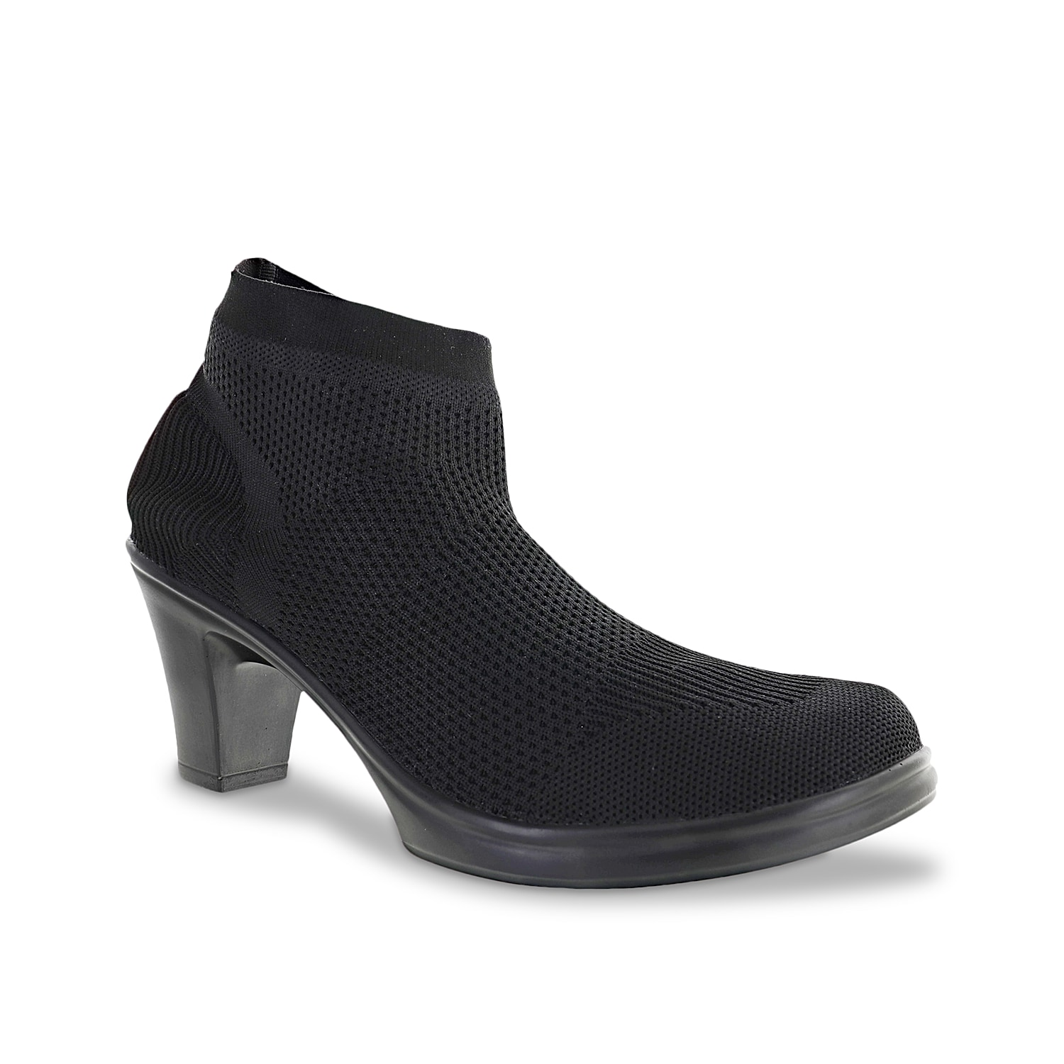 Hit the town in style in the Bernie Mev Doll bootie. The fitted sock bootie construction is equipped with stretch knit technology at the upper and memory foam insole for maximum comfort. Click here for Boot Measuring Guide.