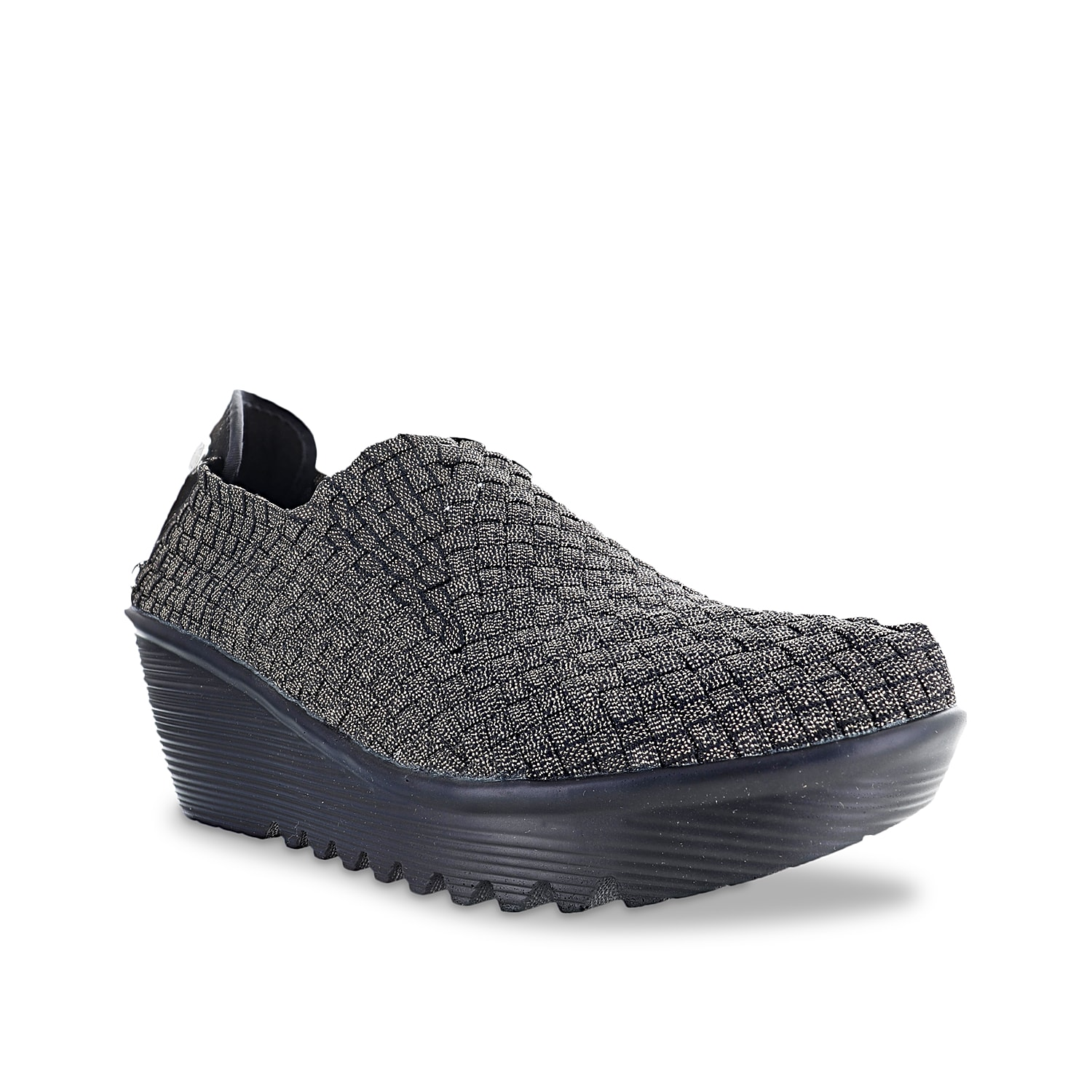Wrap your feet in exquisite comfort and style offered by the Gem wedge slip-on from Bernie Mev. Supported with a gently stacked wedge heel and signature wavy-tread sole, this slip-on boasts a woven upper that amps up its overall look.