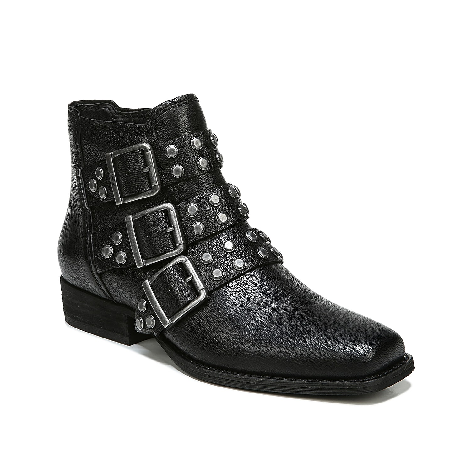 Make your own statement with the classy and impressive Zodiac Adele bootie. Accented with buckled straps and stud accents, this bootie has a side zip for convenient wear.Click here for Boot Measuring Guide.