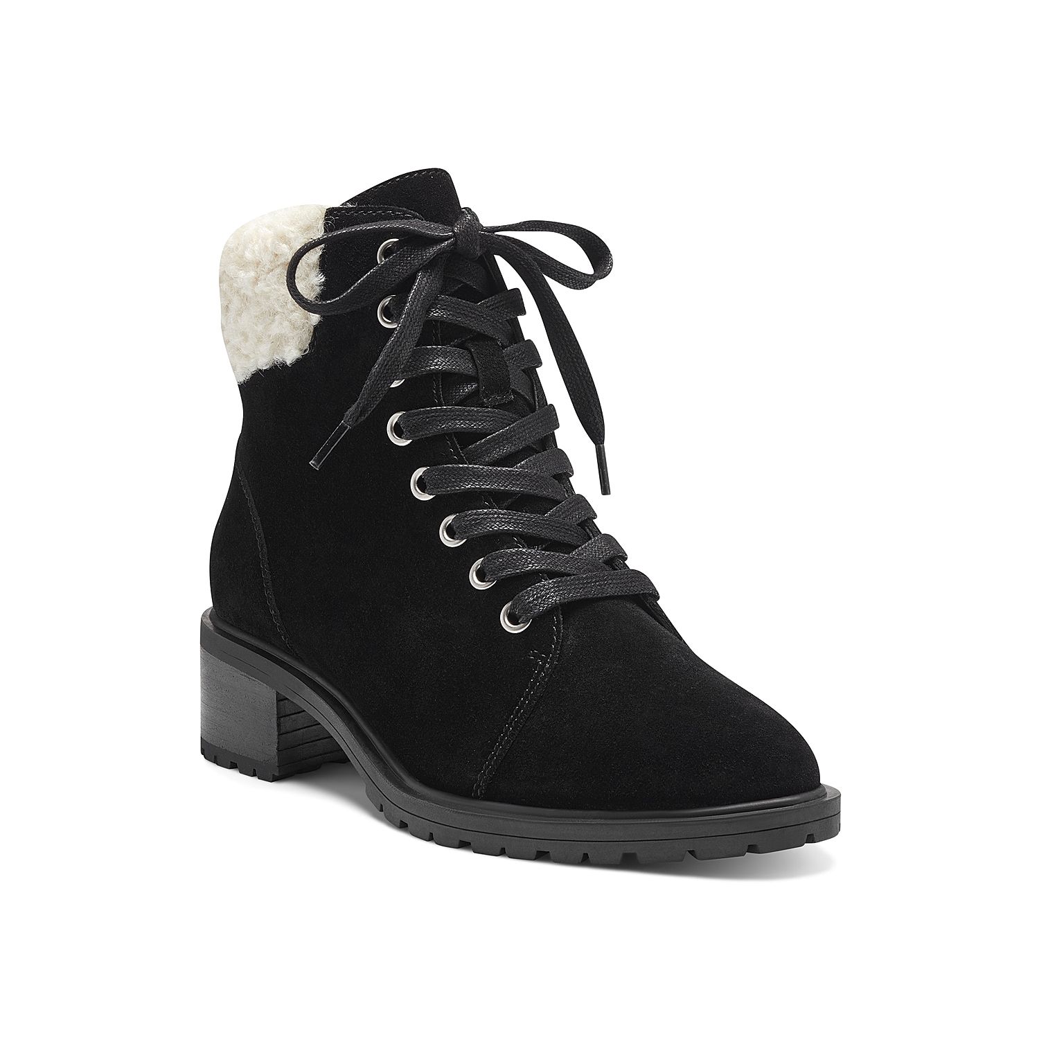 Kickstart cool weather style with the Jacenia bootie from Sole Society. This combat-inspired pair features a faux fur cuff and low block heel to complement anything from leggings to jeans.Click here for Boot Measuring Guide.