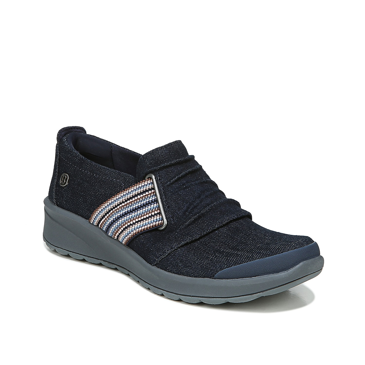 Perfect your casual look with the Giddy Up slip-on from BZees. This sneaker features SuperPuff cushion around your ankle, SoCush Memory Foam arch support and Comfort Cone Gel that bring total comfort to your foot.