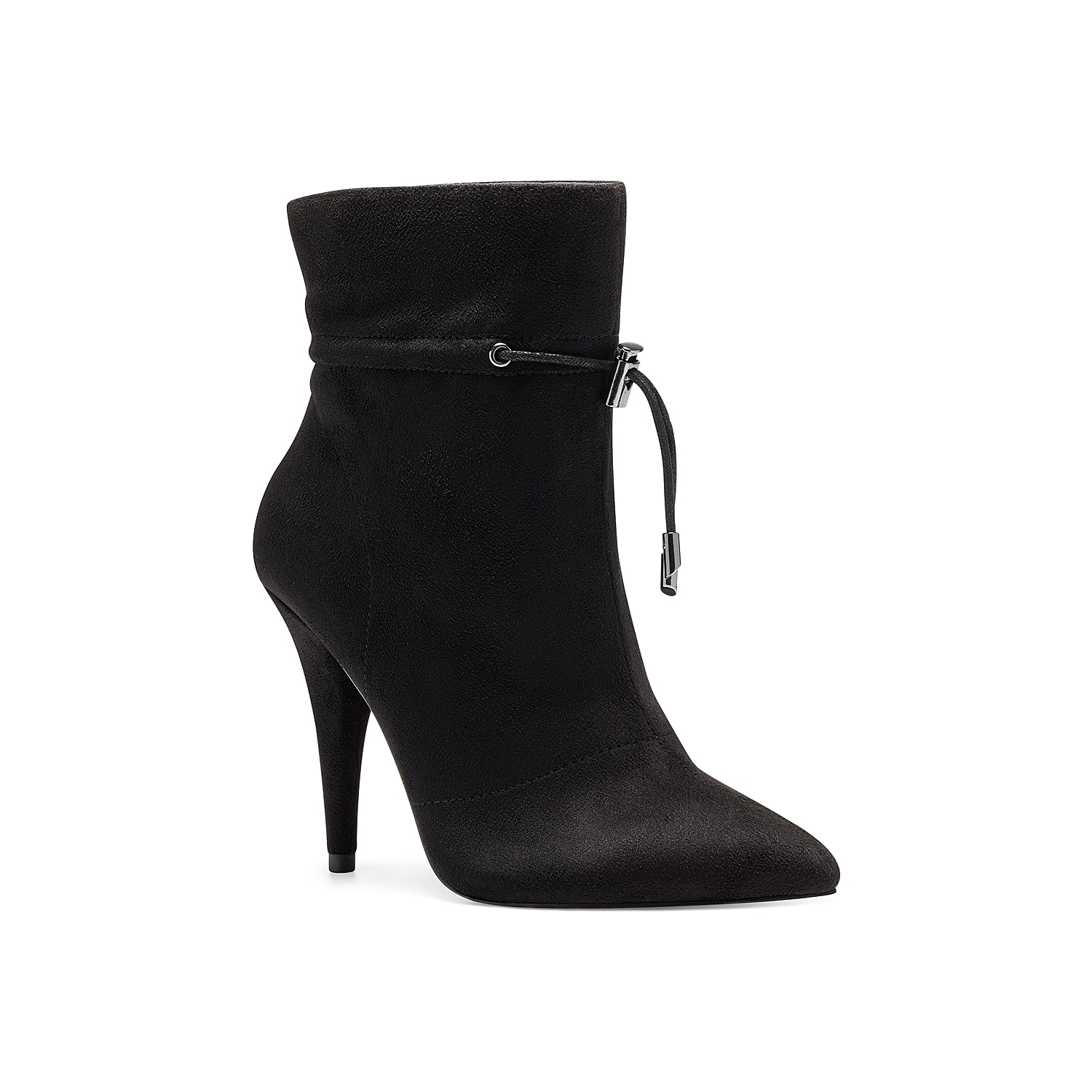 Add grace to your feminine looks by introducing the Jessica Simpson Kimele bootie. Comprising sleek pointed toe front, this bootie has a beautiful tapered heel and unique tie top closure for a secure fit.Click here for Boot Measuring Guide.