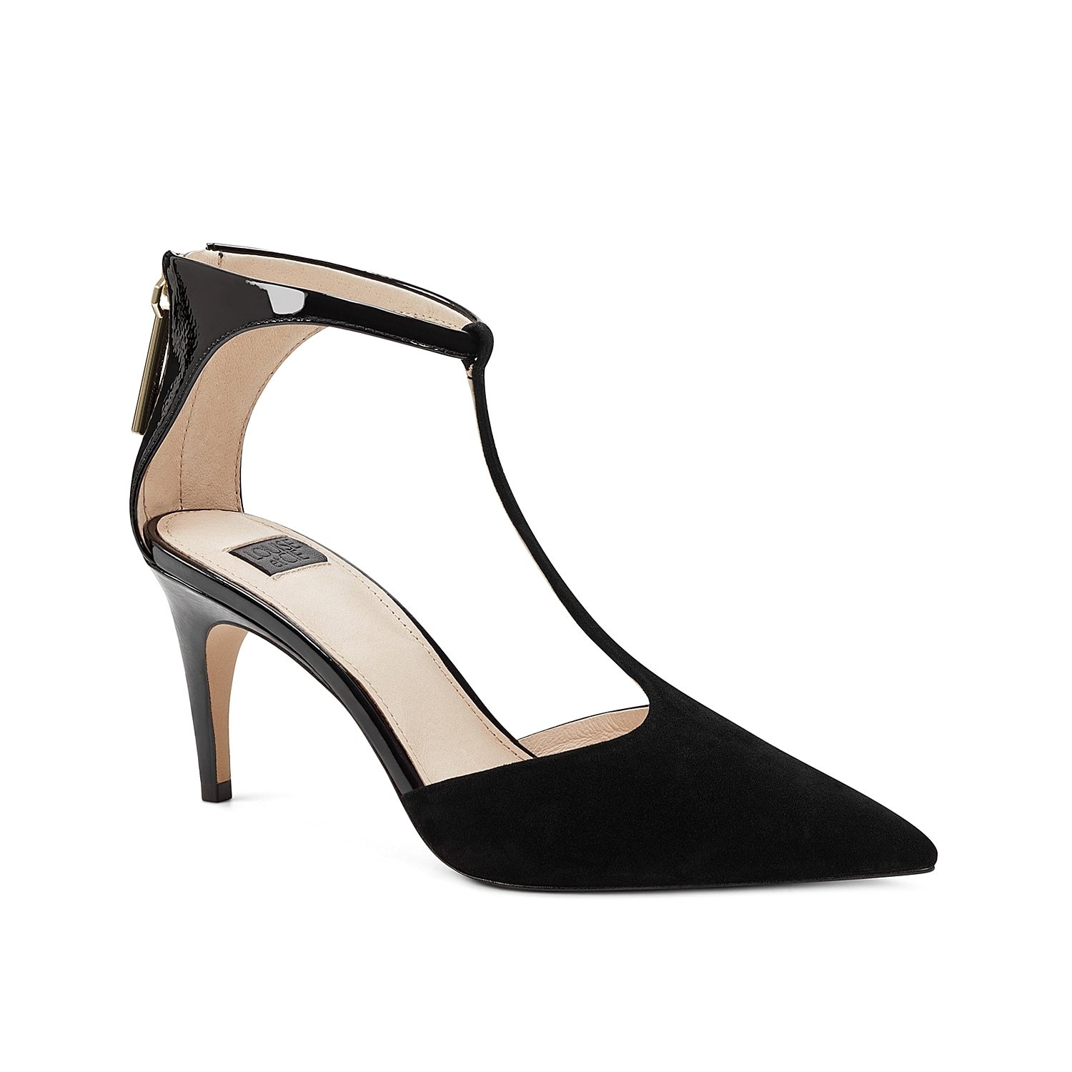 Earn a reputation for your glam looks with the Louise Et Cie Kalona dress pump. Lush upper with pointed toe, slim midfoot strap and buckled ankle strap is backed by a durable rubber sole and minimal heel for lasting support.
