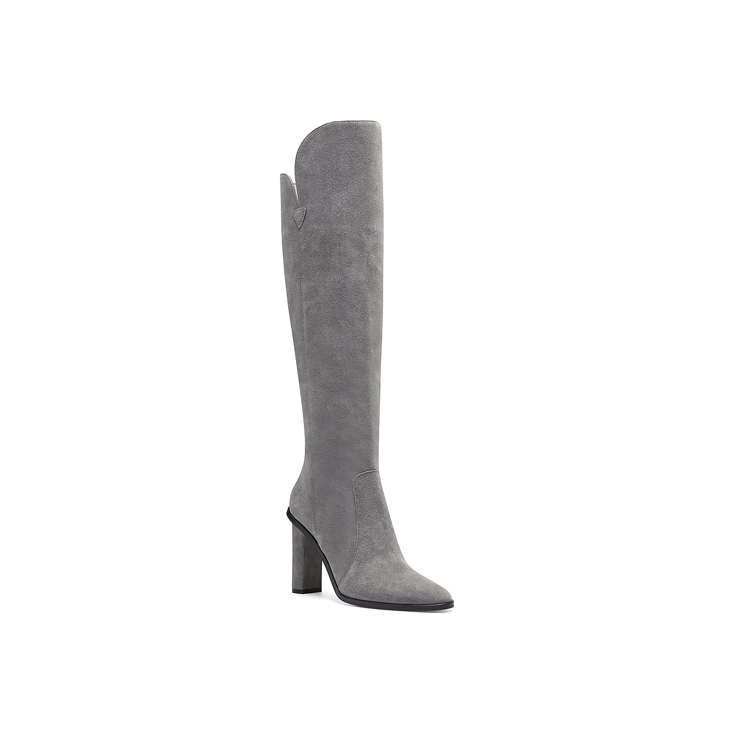 The Palley over the knee boot by Vince Camuto is an absolute showstopper with elevated style. Boasting rich croc embossing, this tall boot has a hi-lo top line and ankle zip closure along with a wrapped block heel.Click here for Boot Measuring Guide.