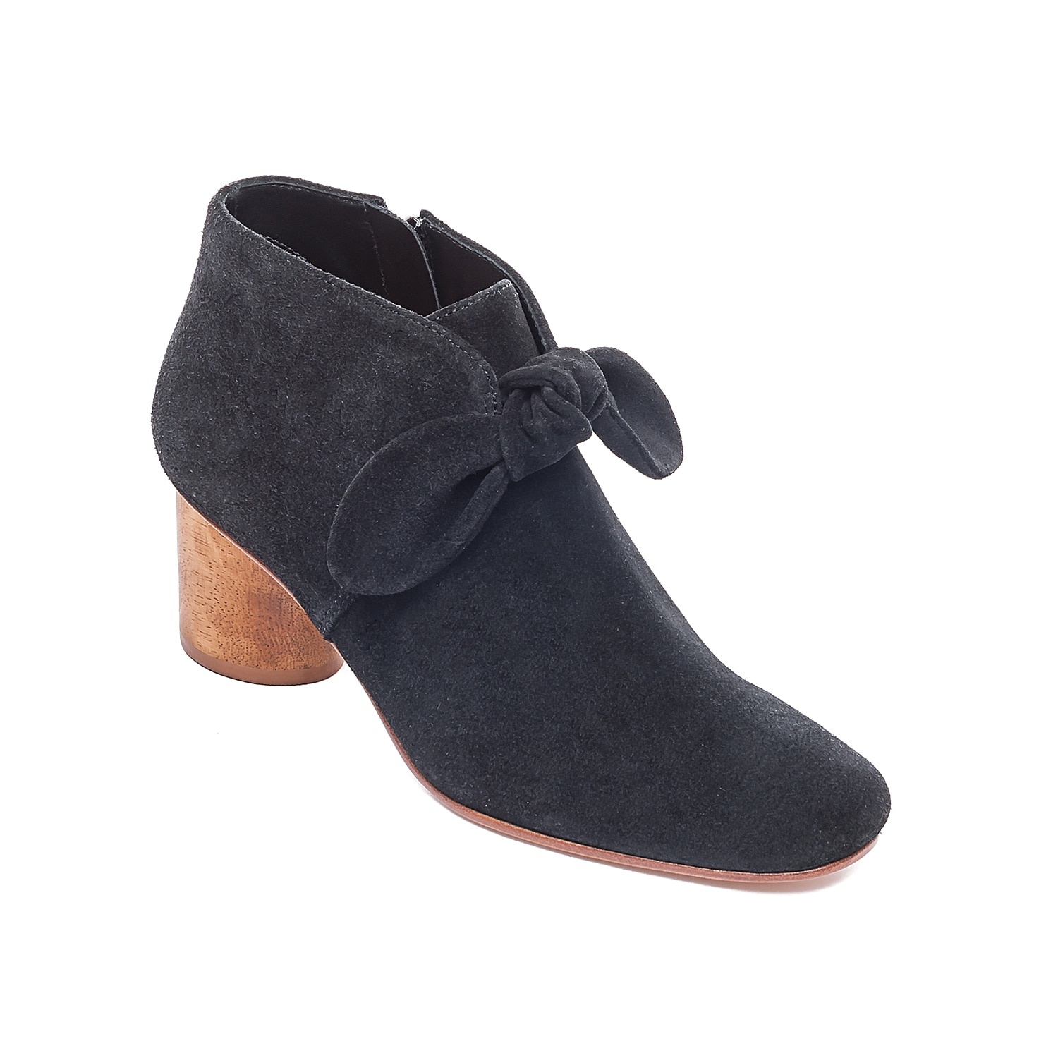 Chic and comfy, the Ilanna bootie by Bernardo gives just the right touch to your everyday style. Detailed with a knotted bow accent, this suede bootie is heightened by a padded leather sock and cylindrical block heel with a wood-like look.Click here for Boot Measuring Guide.