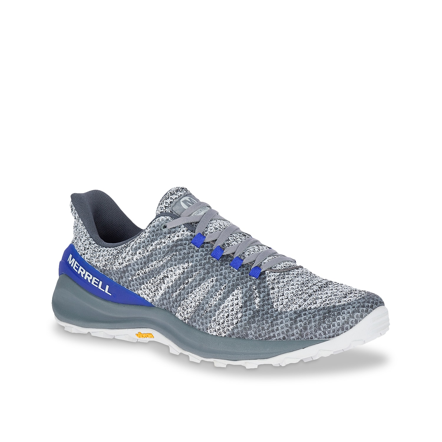 Conquer new paths with the secure foothold of Momentous trail running shoe from Merrell. Supported with Hyperlock¿ TPU molded heel counter, this sneaker comes with M Select¿ Fresh antimicrobial agents and TrailProtect¿ rock plate for underfoot security in rough terrains.