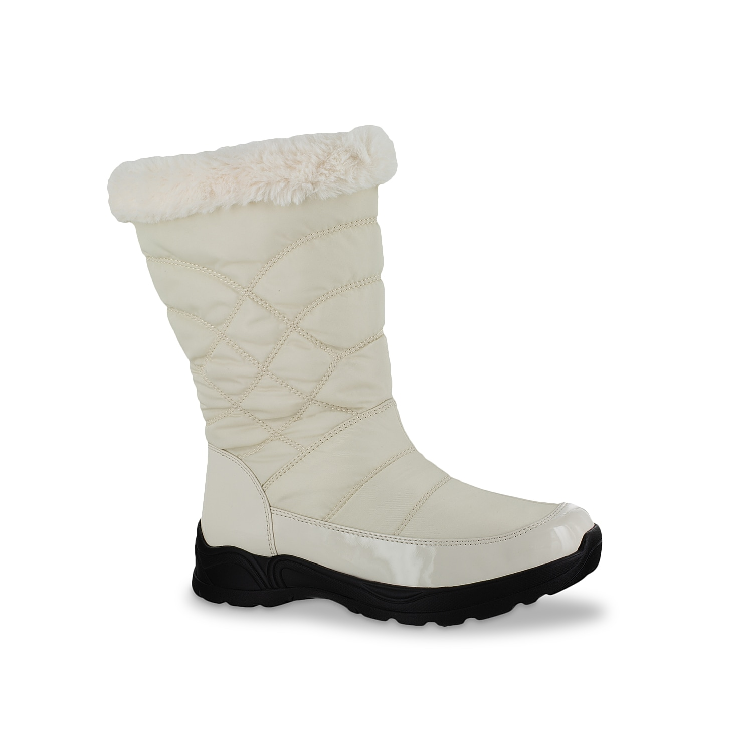 Combat the inclement weather in the Cuddle Easy Dry boot from Easy Street. It showcases quilted shaft, faux fur topline, waterproof inner shell and Easy Dry technology that keep your foot dry and warm.Click here for Boot Measuring Guide.
