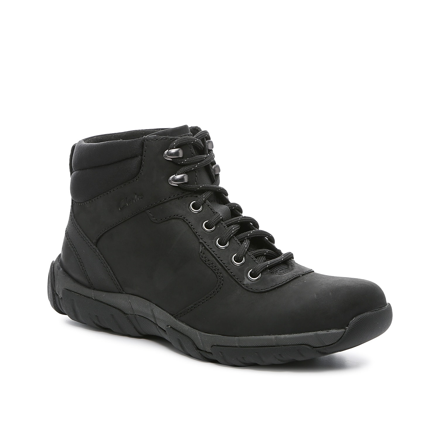 Stay confident with the comfort and style of the Grove hiking boot from Clarks. With a stabilizing, structured design that supports trail walking, this boot helps you stay on your feet with a traction outsole and Extreme Comfort footbed that\\\'s breathable and moisture-wicking. A molded heel cup surrounds the foot.