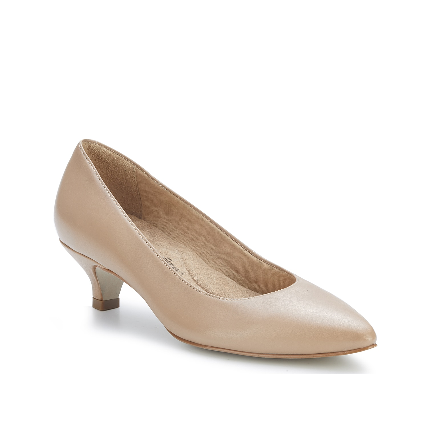 Flaunt classic style with the Holleen pump from Walking Cradles. With a kitten heel, pointed toe, and Tiny Pillows cushioned footbed, this leather pair will become a new favorite.