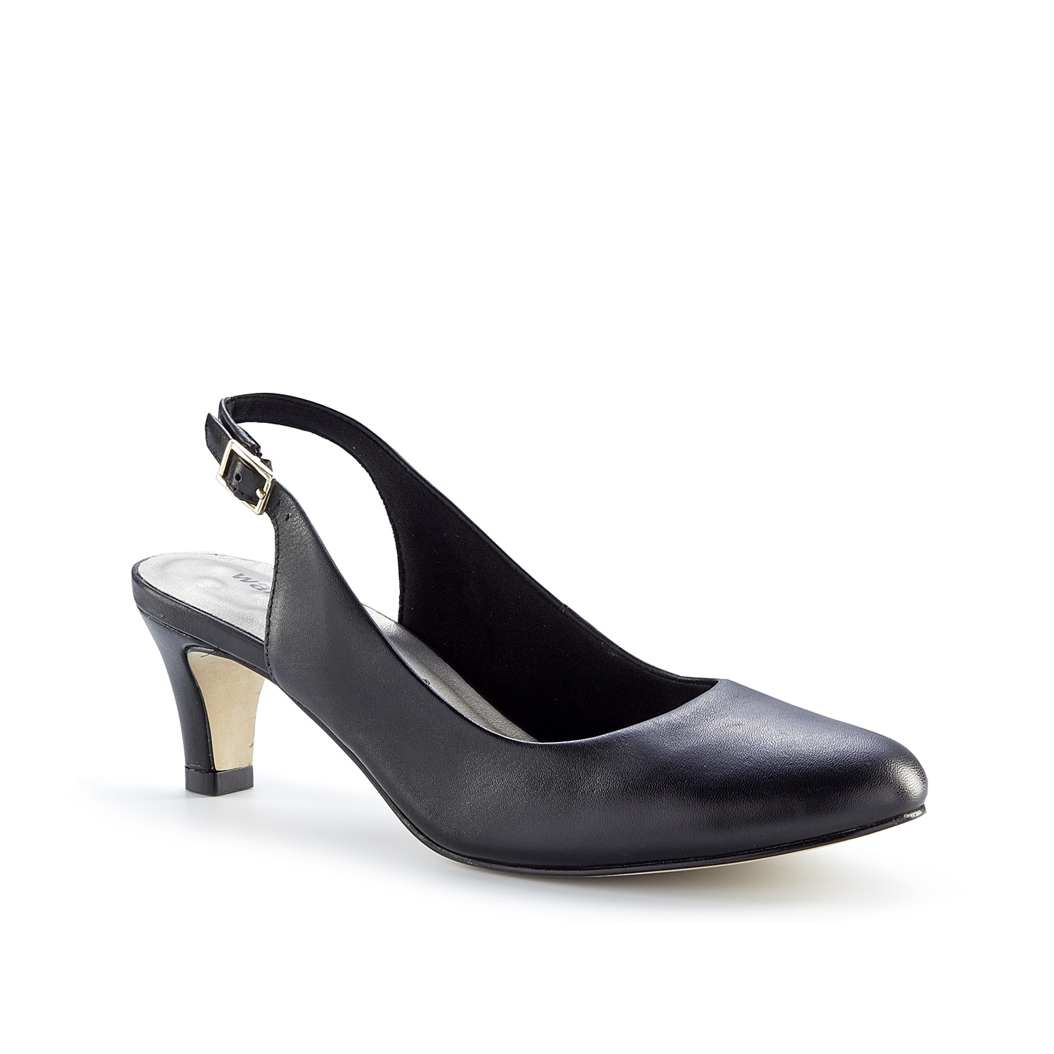 Update your pump collection with added comfort with the Matilda pump from Walking Cradles. This leather slingback features a Tiny Pillows footbed for daylong support.