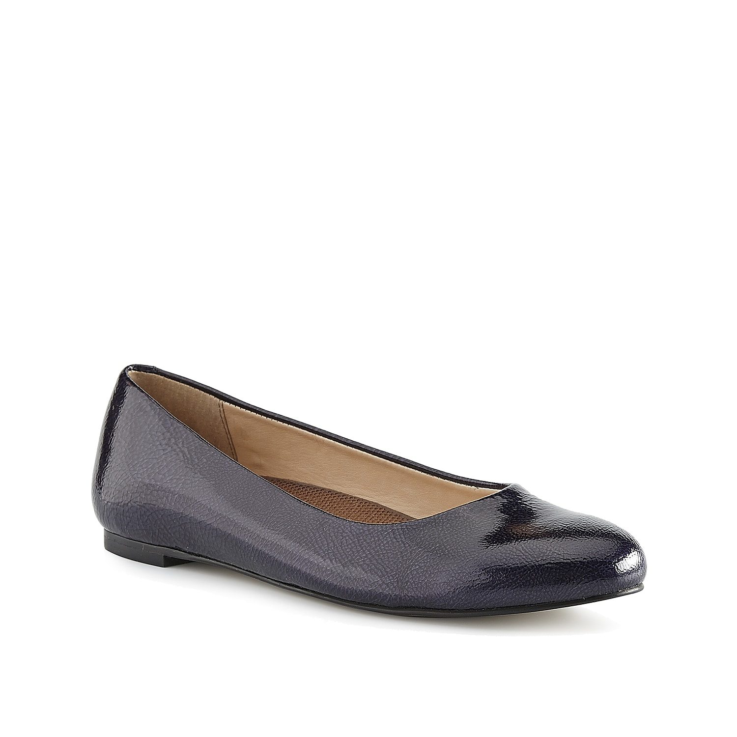 It doesn\\\'t get anymore classic than the Frazier ballet flat from Walking Cradles. This patent pair features a Tiny Pillows footbed to keep you supported all day long.