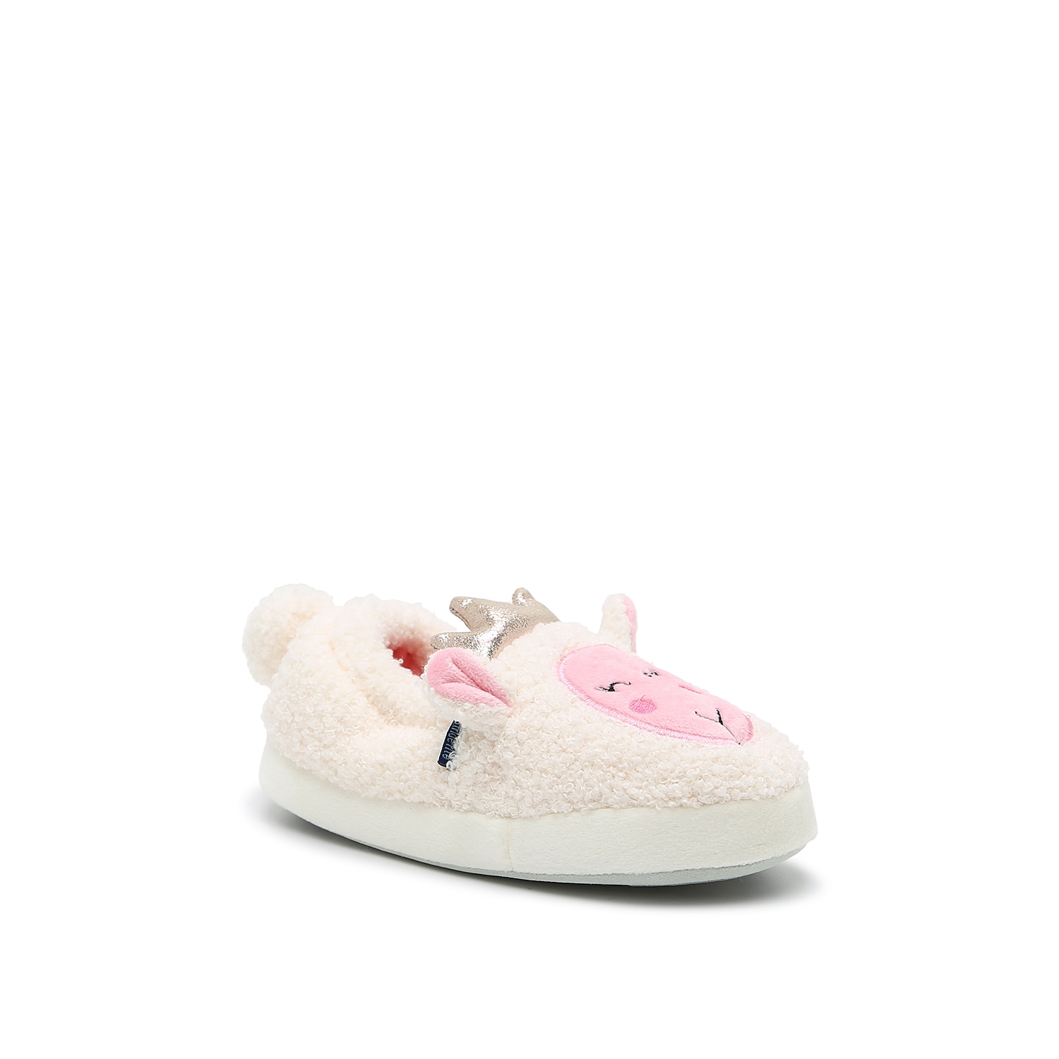 The Lauren Lamb slipper from Stride Rite will have your little one feeling like a princess. With pop-out ears and a crown accent, this fuzzy pair will keep them comfortable day or night.Not sure which size to order? Clickhereto check out our Kids' Measuring Guide! For more helpful tips and sizing FAQs, clickhere.