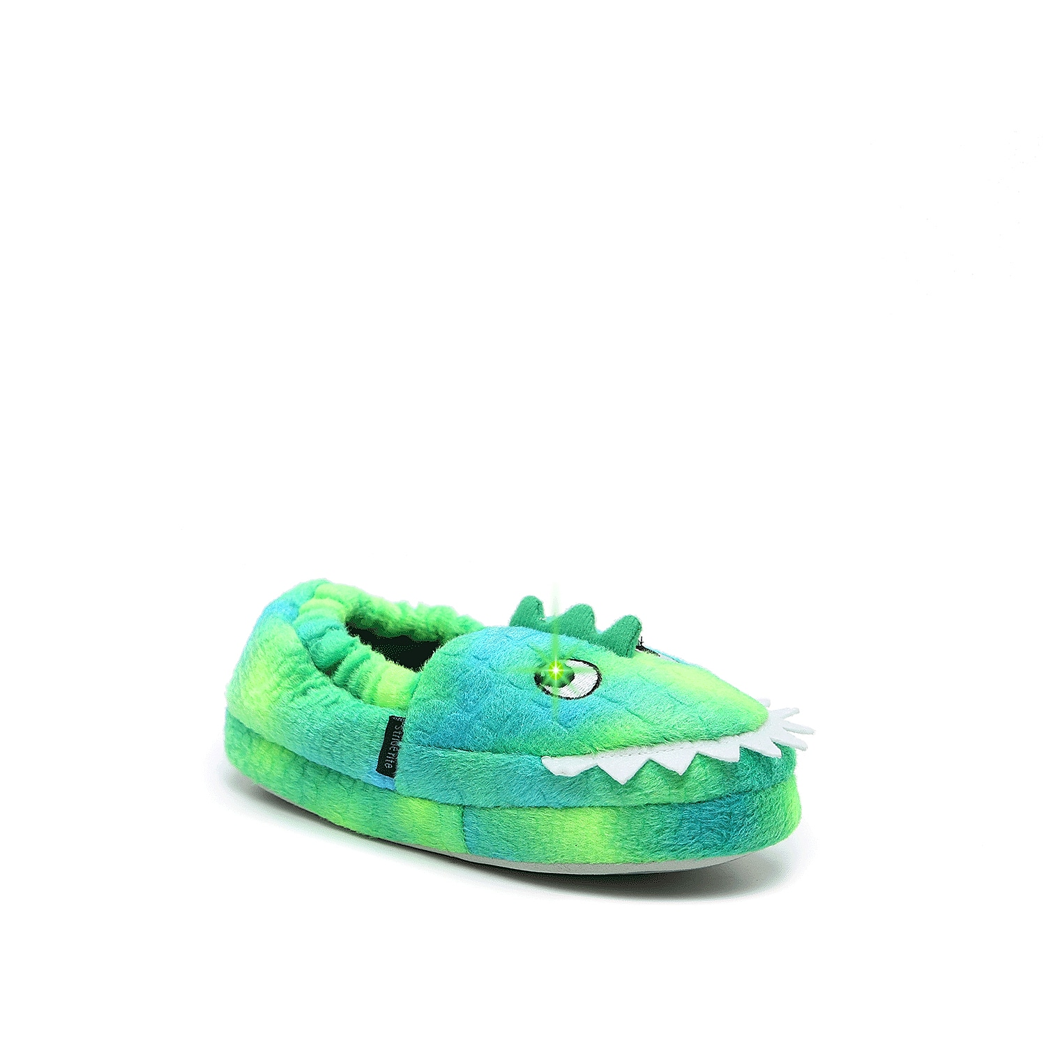 Upgrade your little one\\\'s nighttime routine with the Axel Alligator slipper from Stride Rite. Light-up technology will keep them stepping around in style! Not sure which size to order? Clickhereto check out our Kids' Measuring Guide! For more helpful tips and sizing FAQs, clickhere.