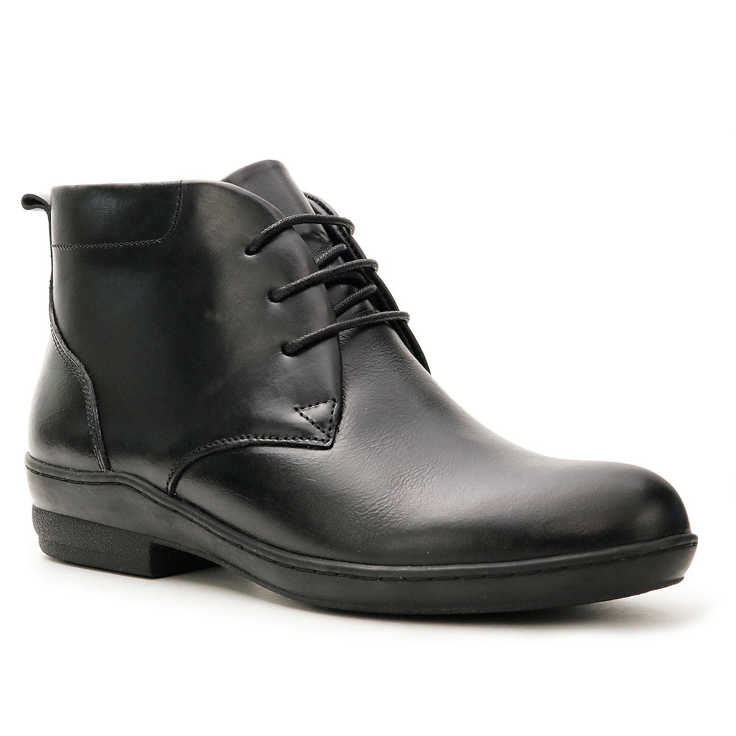 Formal design gets a chic update in the Truth bootie from David Tate. This lace-up leather bootie features side zipper, soft lining, removable insole with gel pack and flexible outsole for a perfect blend of style and comfort.Click here for Boot Measuring Guide.