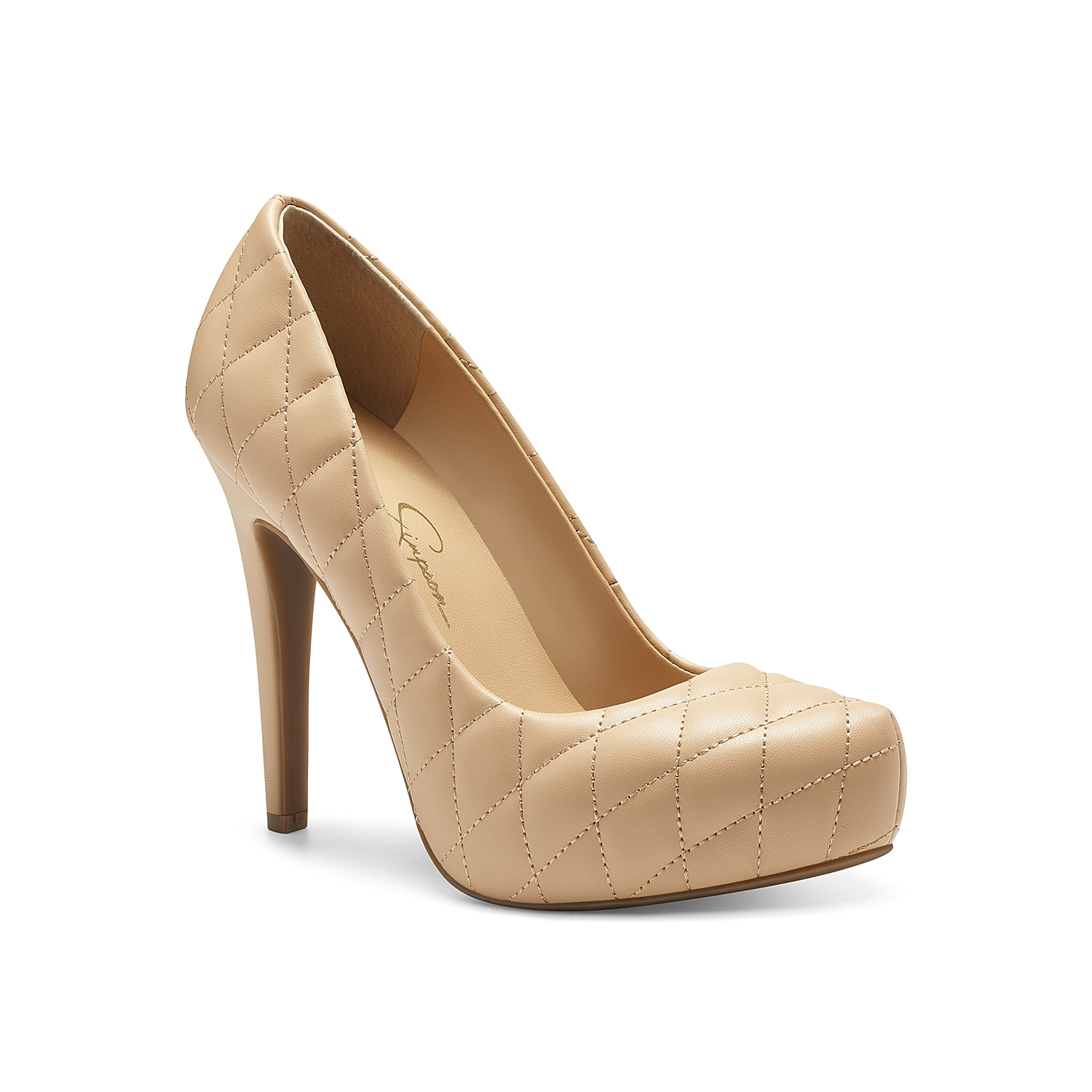 Elegant and versatile, the Parisah platform pump from Jessica Simpson can seamlessly complement most of your outfits. It is designed with quilted patterns that lend a premium feel and covered high heel and platform for added elegance and support.