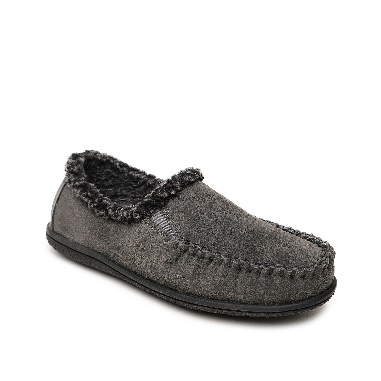 Take on the harsh cold weather in style wearing the Camp slip-on from Minnetonka. This suede pair features soft berber lining, cozy footbed and cushy foam midsole to keep your feet toasty and fresh.