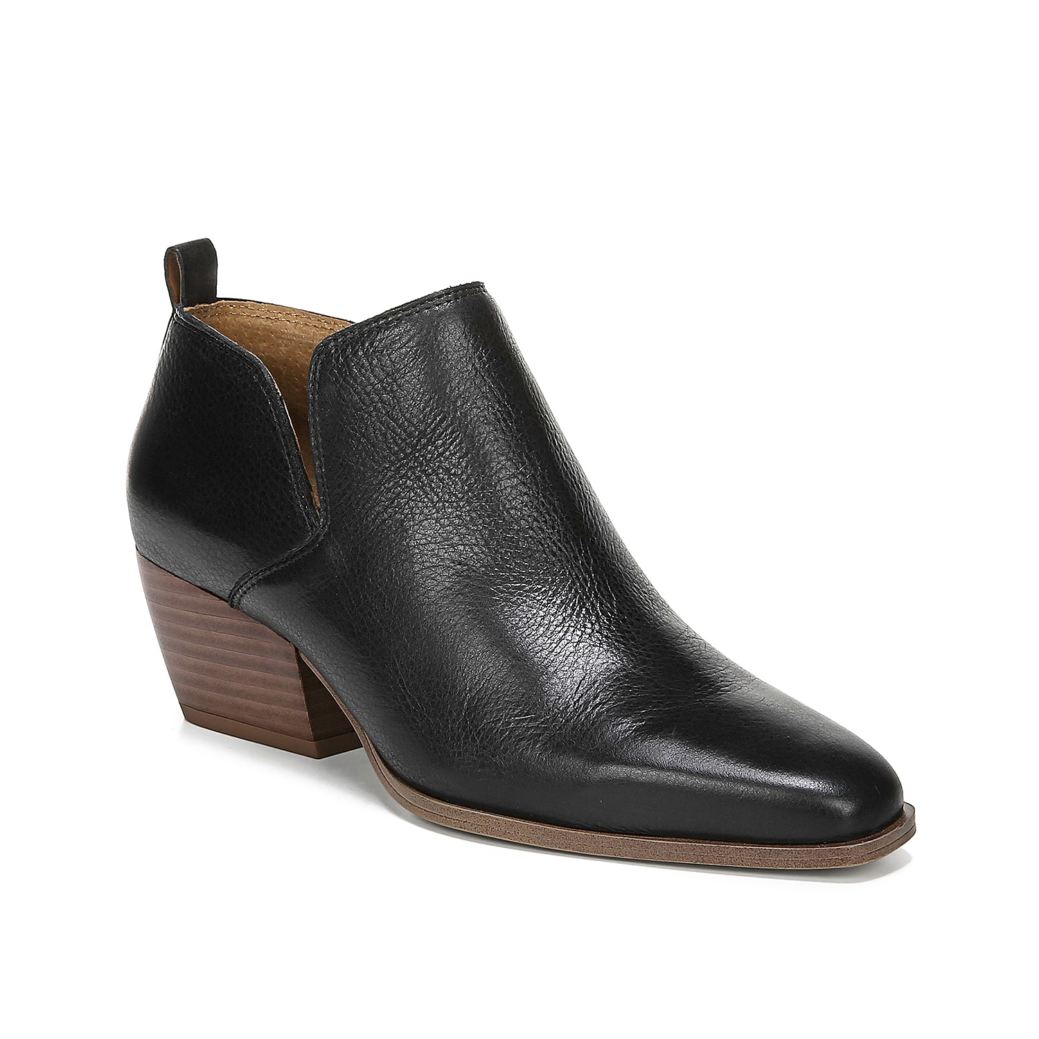 Add a tailored finish to your cool weather look with the Dingo bootie from Franco Sarto. This ankle boot features a low block heel and asymmetrical topline for a sleek finish to jeans and sweaters. Click here for Boot Measuring Guide.