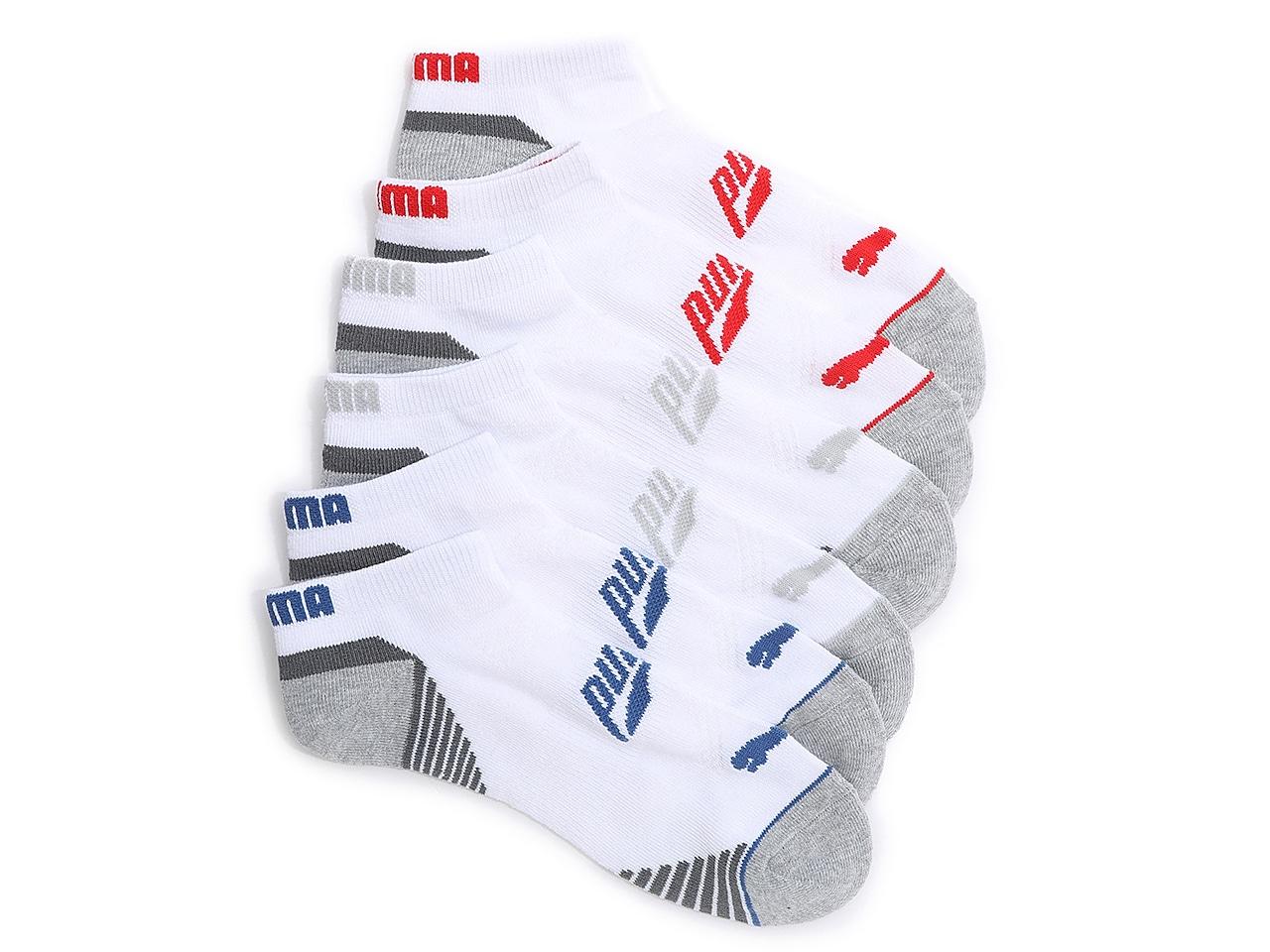 Training Men's No Show Socks - 6 Pack