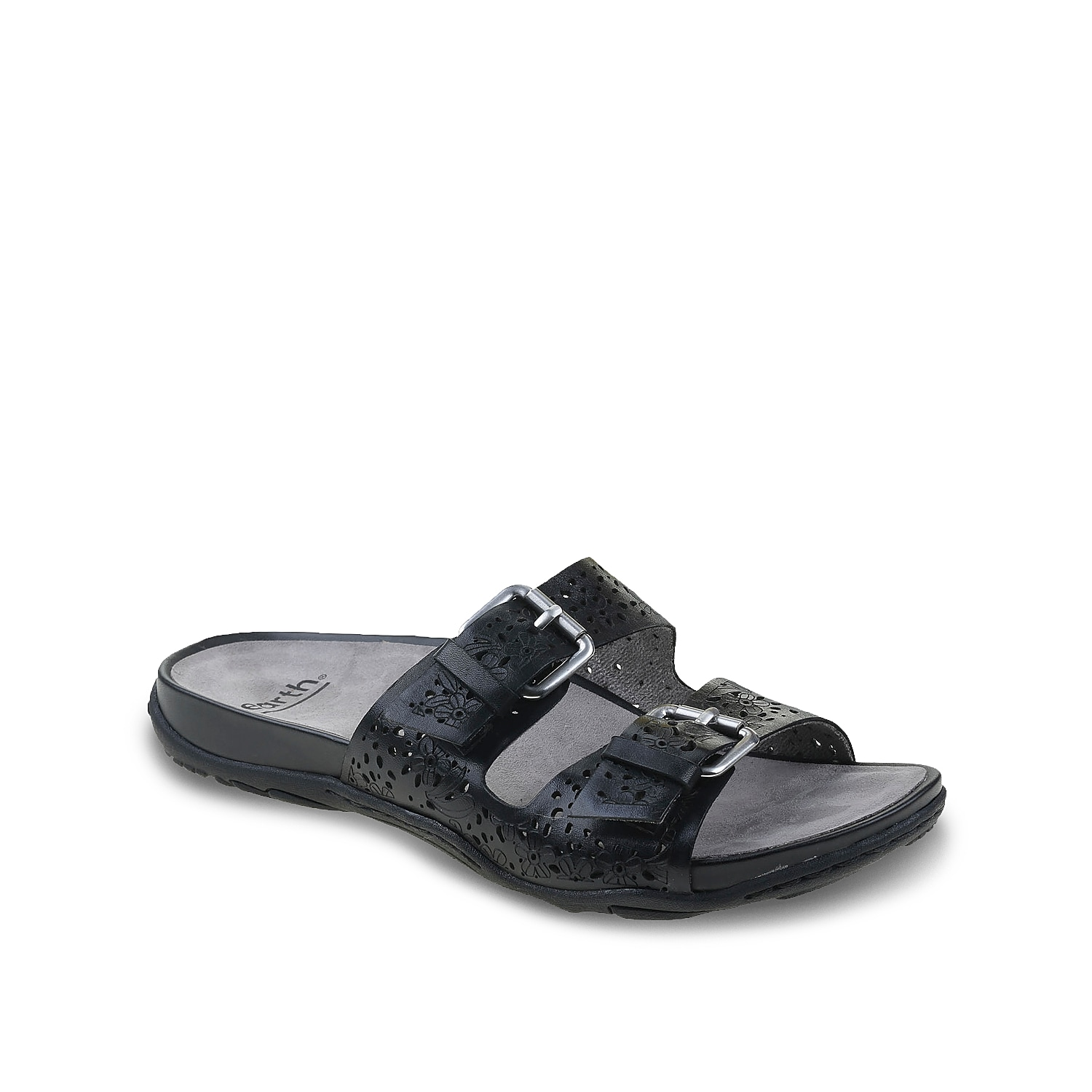 Lounge in laid-back style with the Antigua slide sandal from Earth Footwear. Designed with dual bands sporting adjustable buckles, this slip-on sandal has a padded, contoured PowerPath® footbed to pamper your feet all-day long.