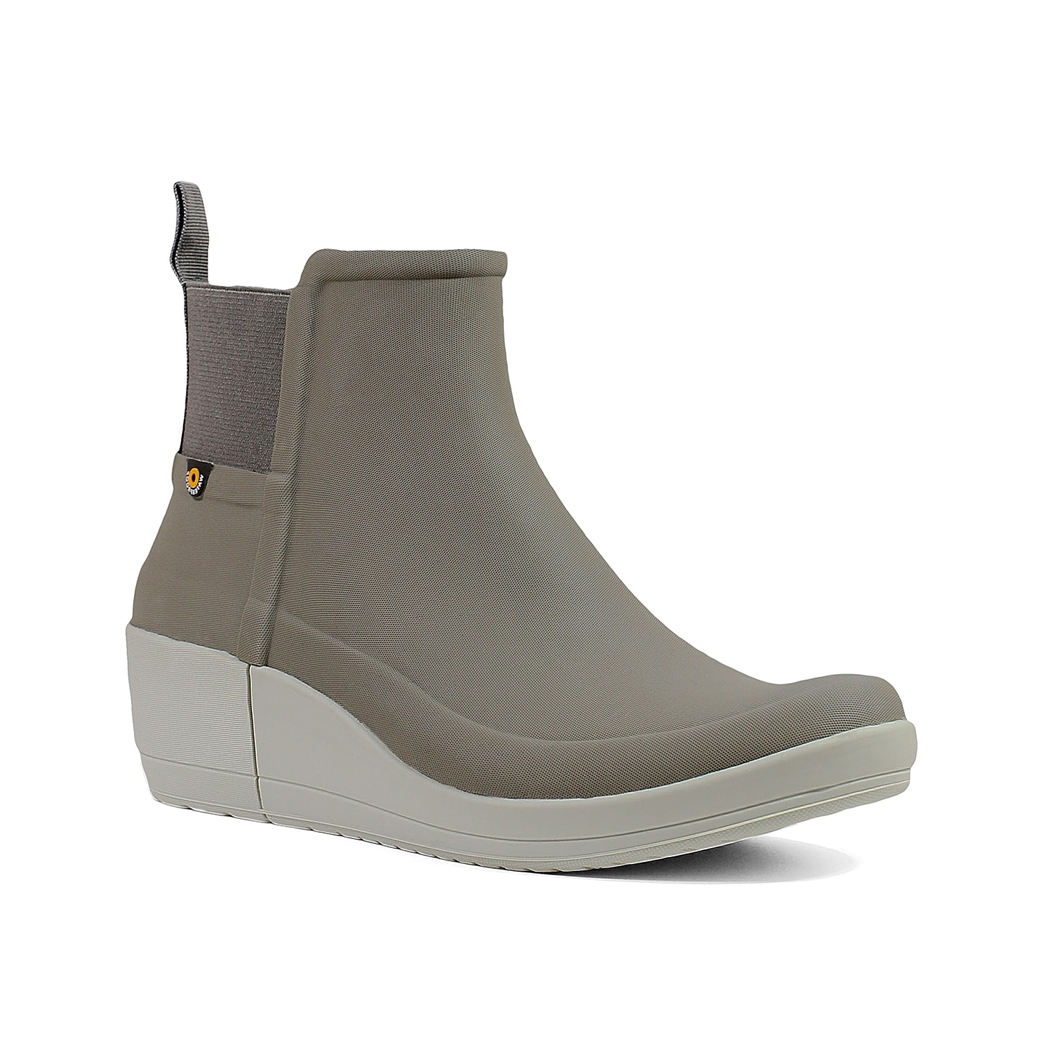 Amp up your rainy day style with the Vista wedge boot from Bogs. This ankle bootie features a waterproof rubber construction and DuraFresh anti-odor technology to keep you feeling dry and fresh all day. Click here for Boot Measuring Guide.