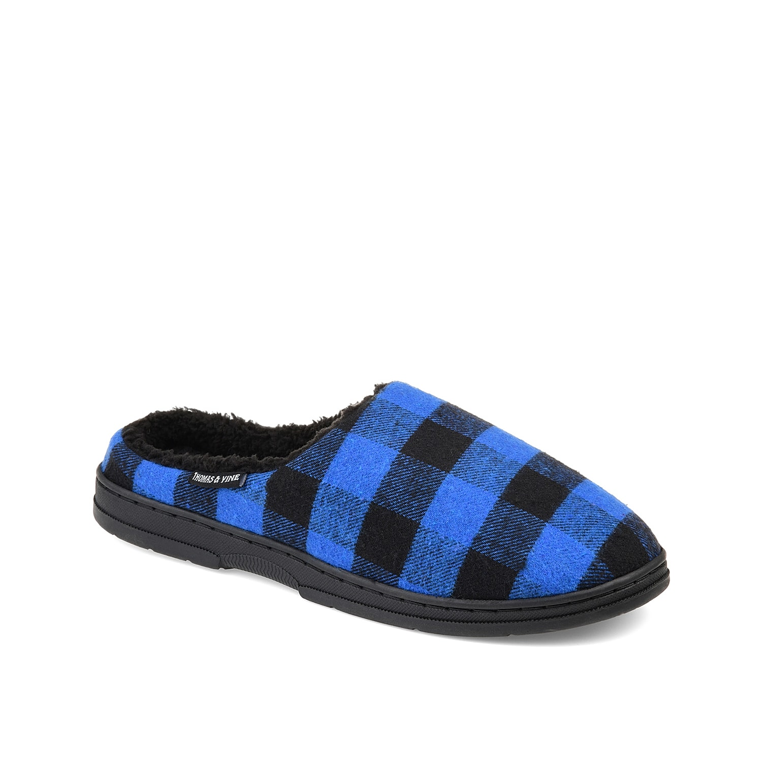 Enjoy the pamper that the Thomas & Vine Archer clog offers you all day. Highlighted with all-over plaid patterns, this clog has warm faux fur lining, cozy padded insole and durable rubber sole.