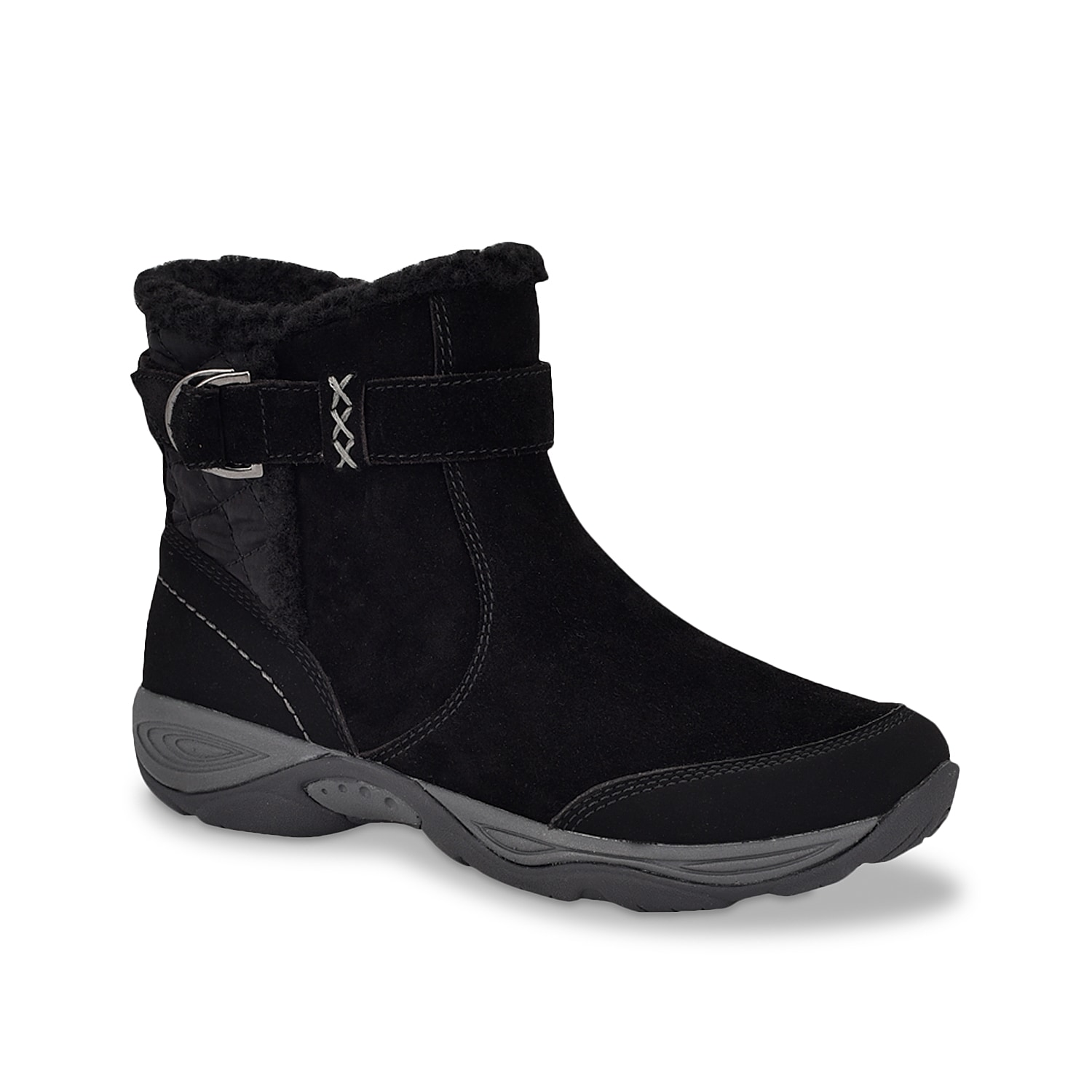 Stay protected all season long with the Seelk snow boot from Easy Spirit. Designed using a water-resistant upper, this winter boot features a plush faux woolen collar, impact- resisting EVA midsole and lugged rubber sole for enhanced comfort and ease on snow.Click here for Boot Measuring Guide.