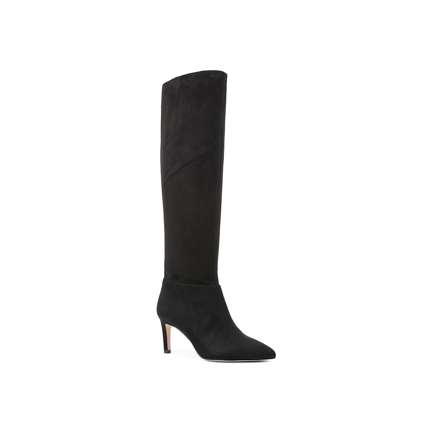 Add versatility to your cool weather wardrobe with the Marlo boot from BCBGeneration. This knee high features a stretchy faux suede upper that can be pulled up or scrunched down for a slouchy look. Click here for Boot Measuring Guide.
