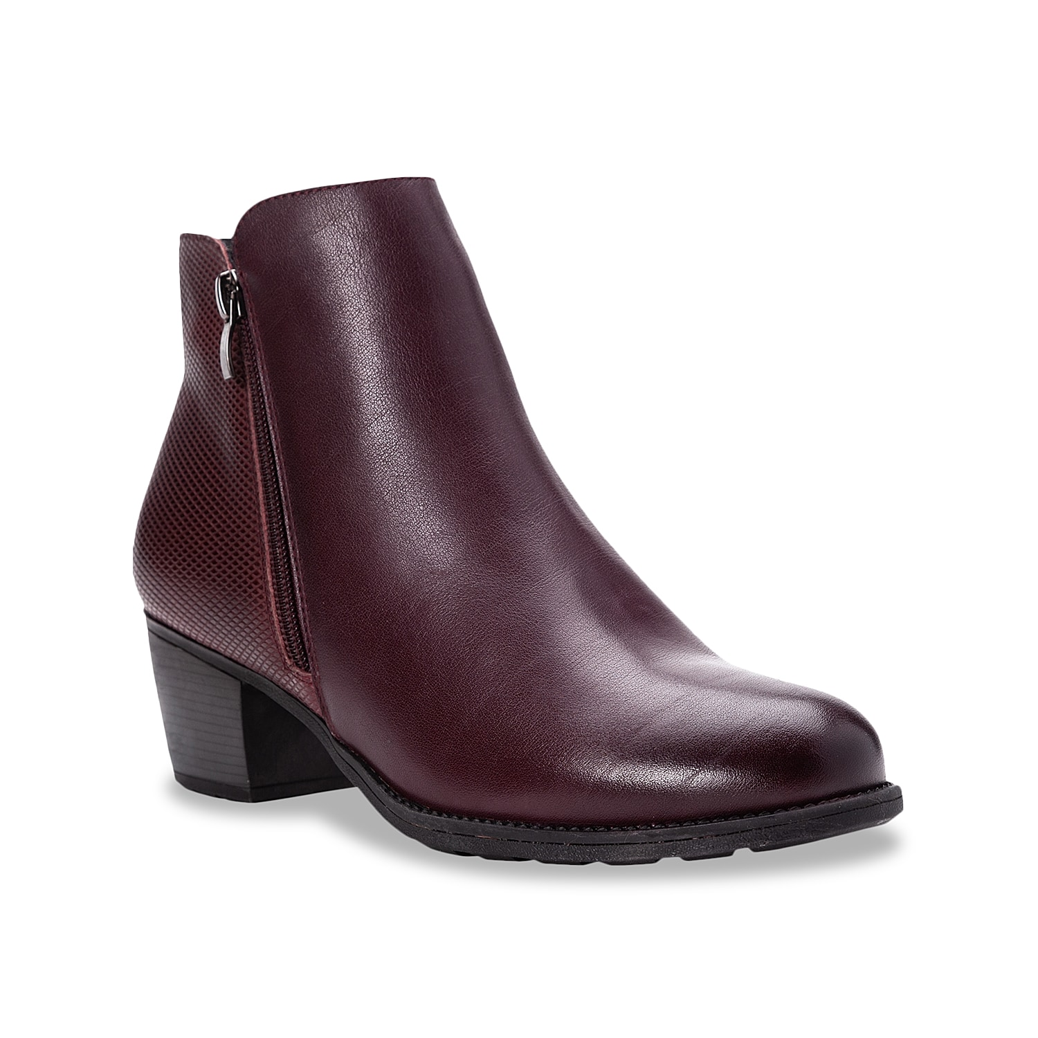 The Tobey bootie from Propet will pair with anything in your cool weather wardrobe. This ankle boot features a smooth leather upper lifted by a molded block heel for versatile appeal.Click here for Boot Measuring Guide.