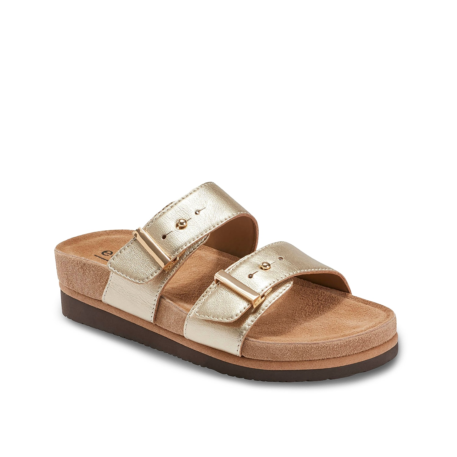 Stride in remarkable comfort of the Canyon slide sandal from Earth Footwear. Boasting a premium leather upper in two-piece silhouette, this slip-on sandal has an anatomically contoured PowerPath® footbed and rigid EVA sole for everlasting support.