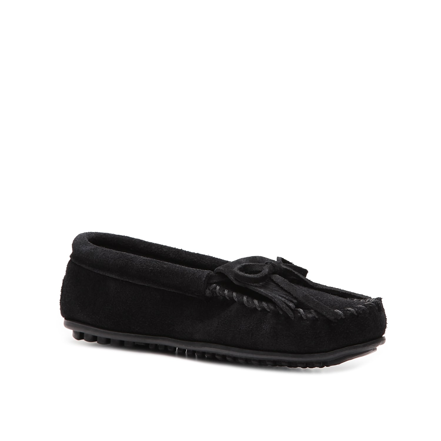 You\\\'ll look so cute in this trendy Kilty moccasin by Minnetonka! This flat is our favorite weekend basic due to its comfy construction and fun styling.